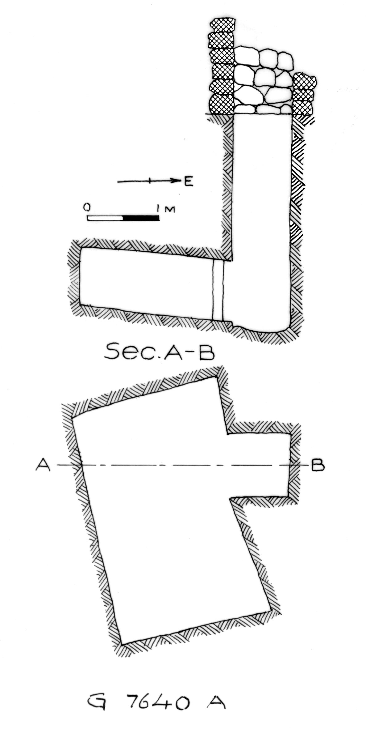 Maps and plans: G 7640, Shaft A
