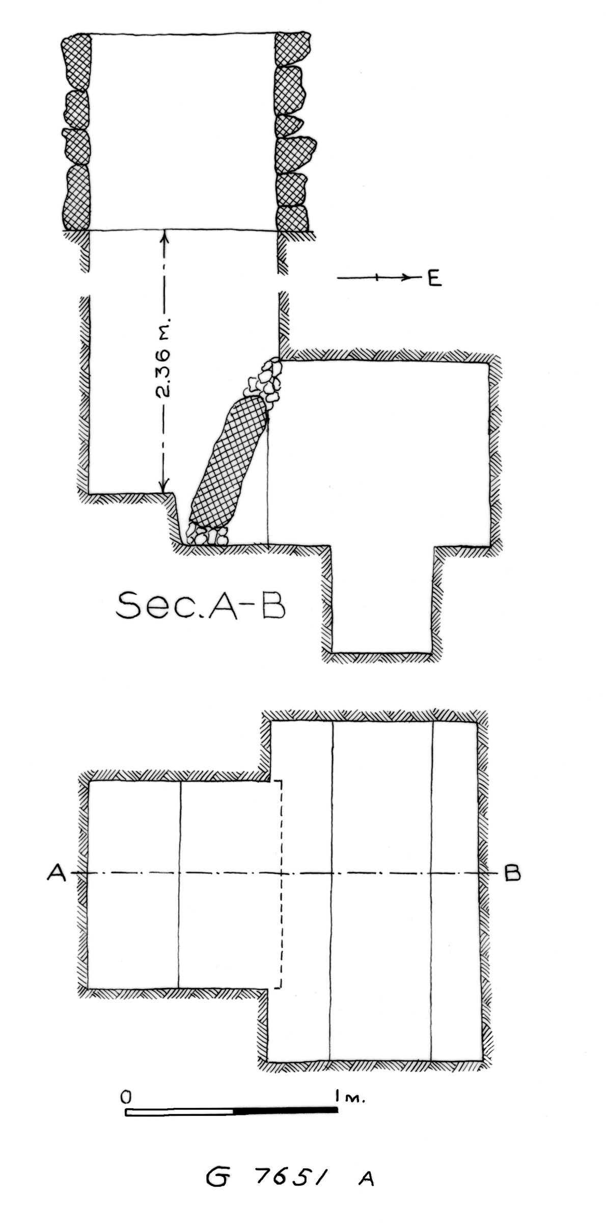 Maps and plans: G 7651, Shaft A