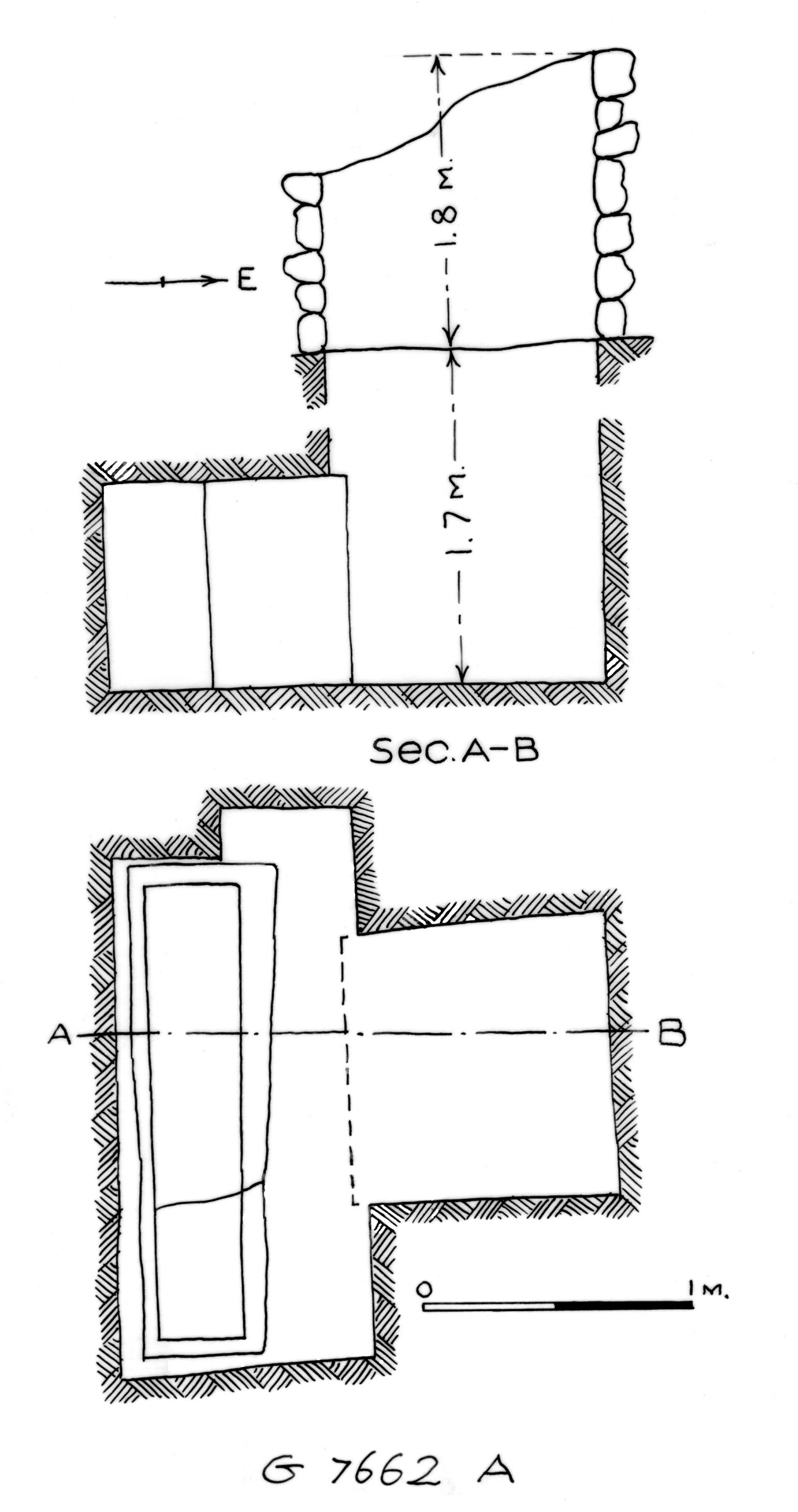 Maps and plans: G 7662, Shaft A