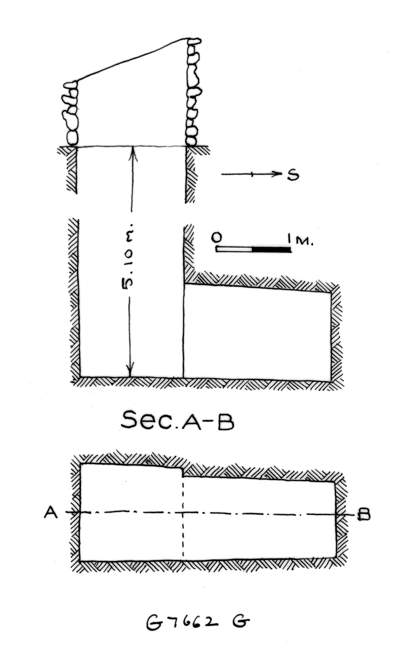 Maps and plans: G 7662, Shaft G