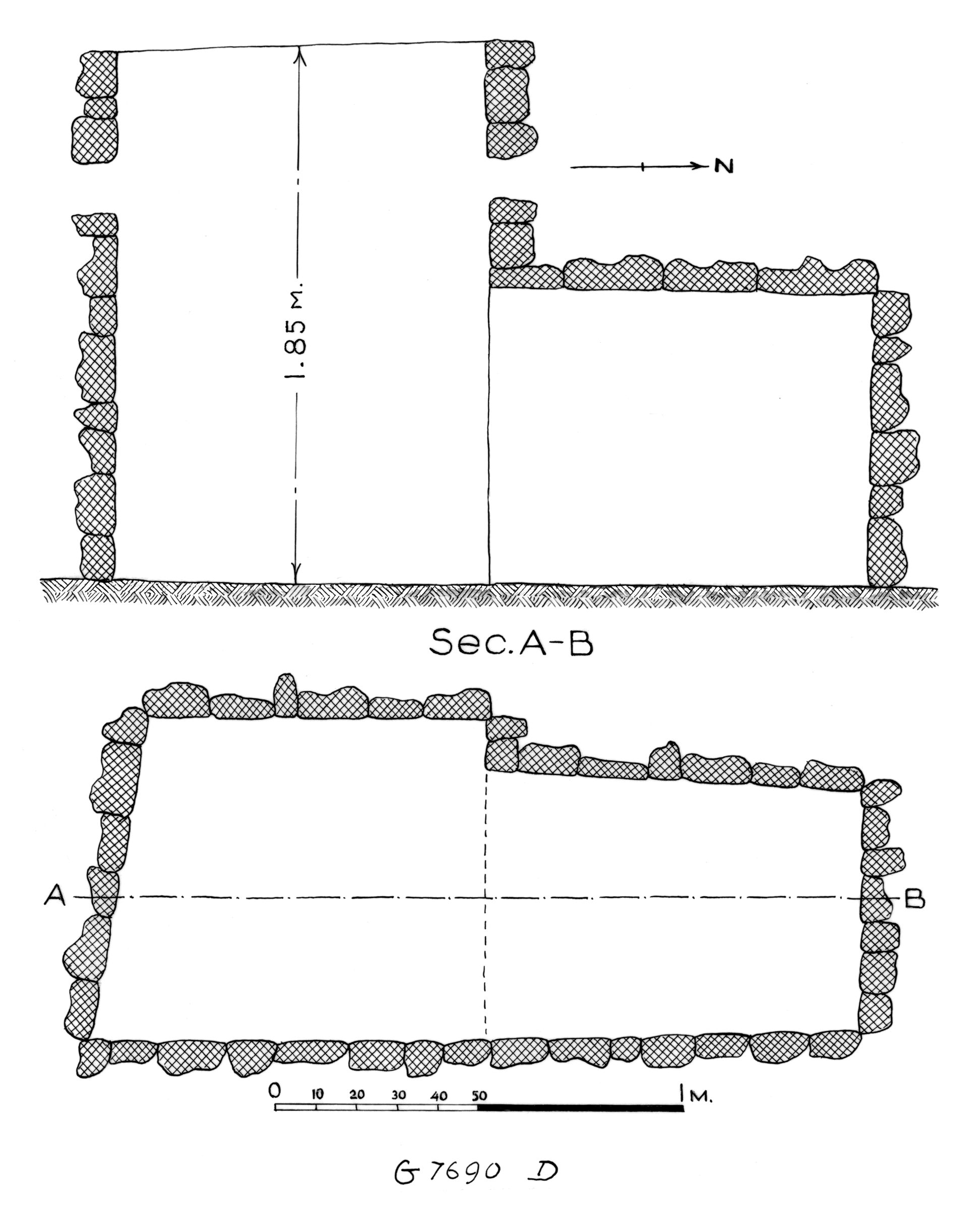 Maps and plans: G 7690, Shaft D