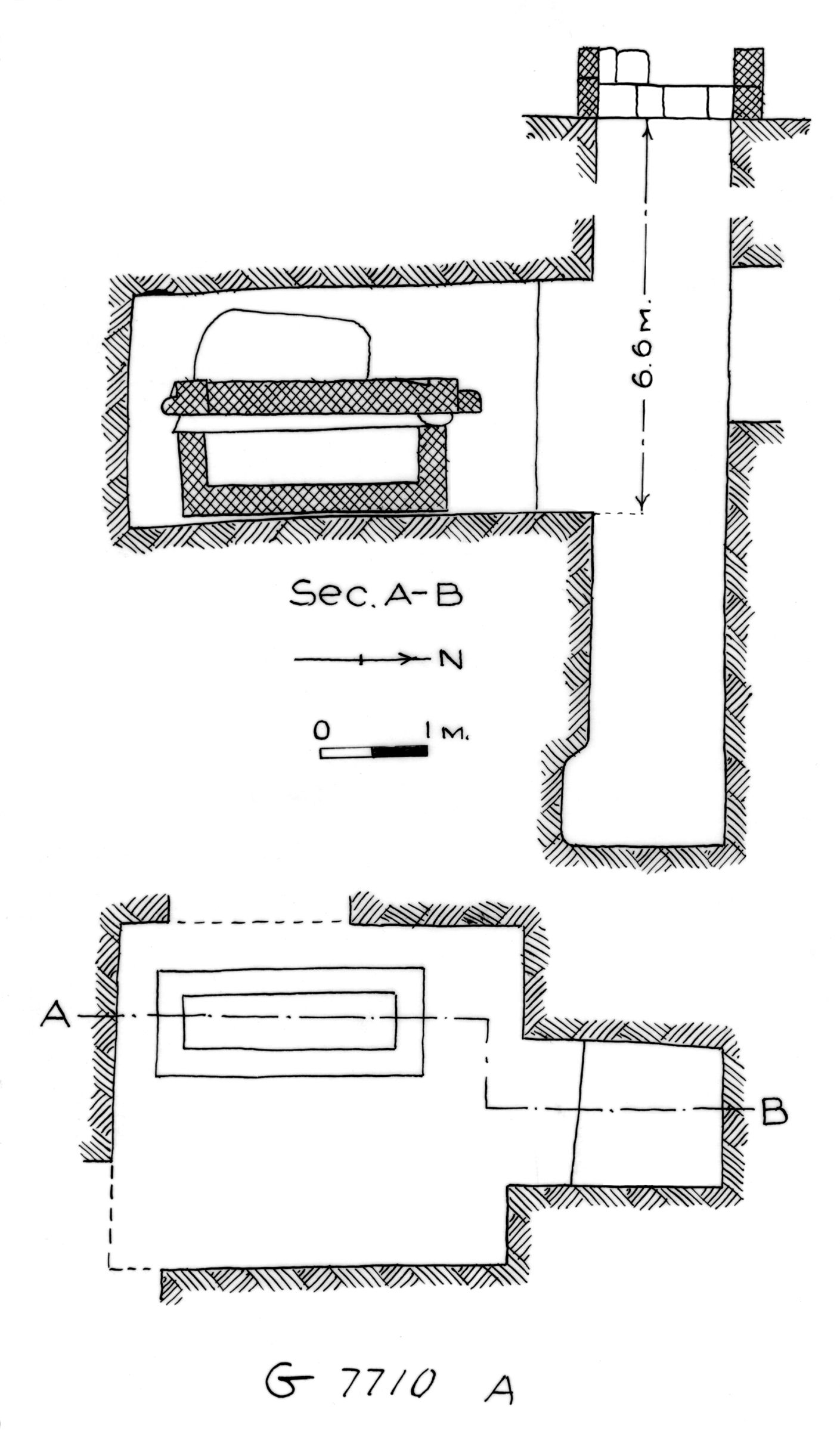 Maps and plans: G 7710, Shaft A