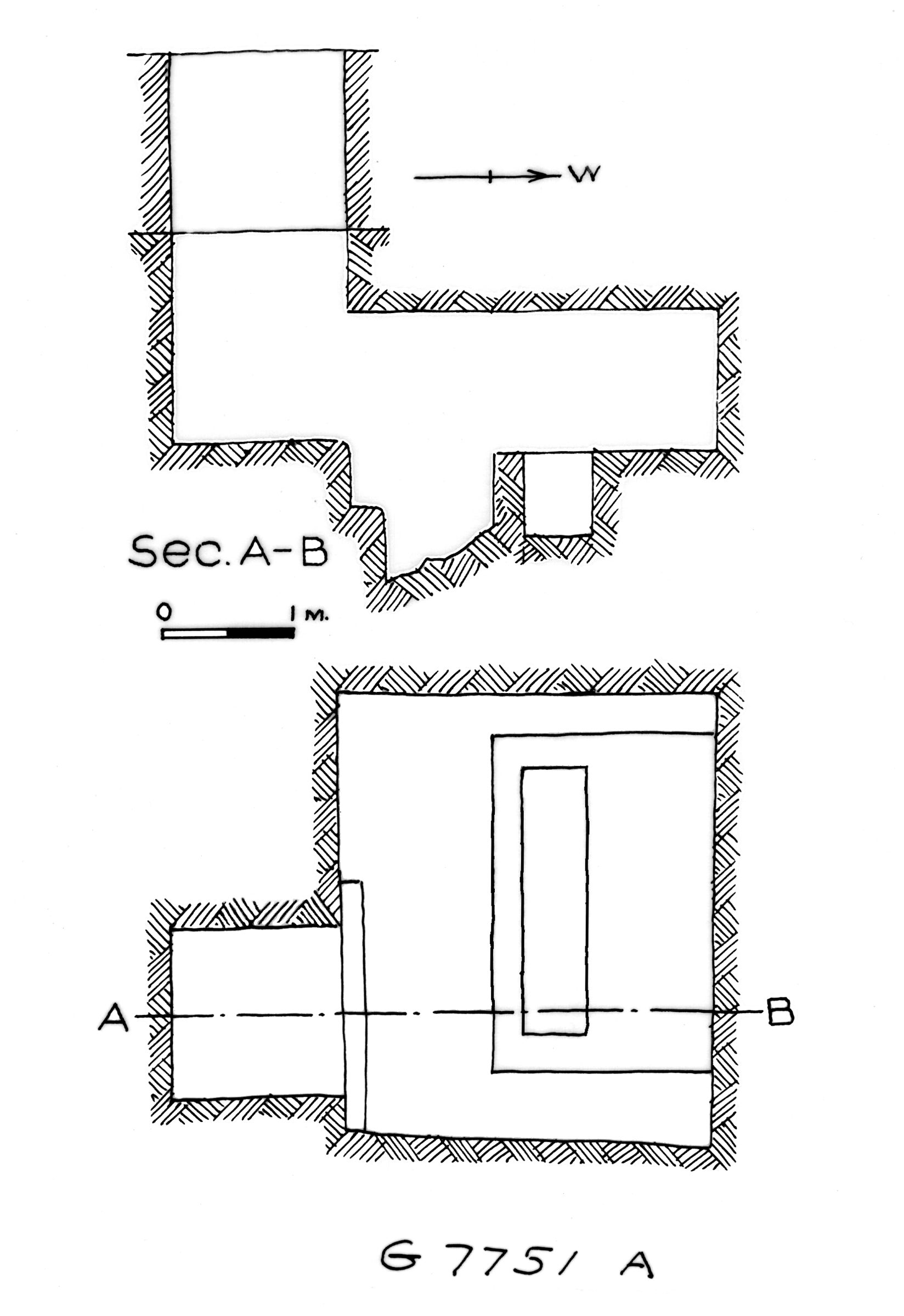 Maps and plans: G 7751, Shaft A