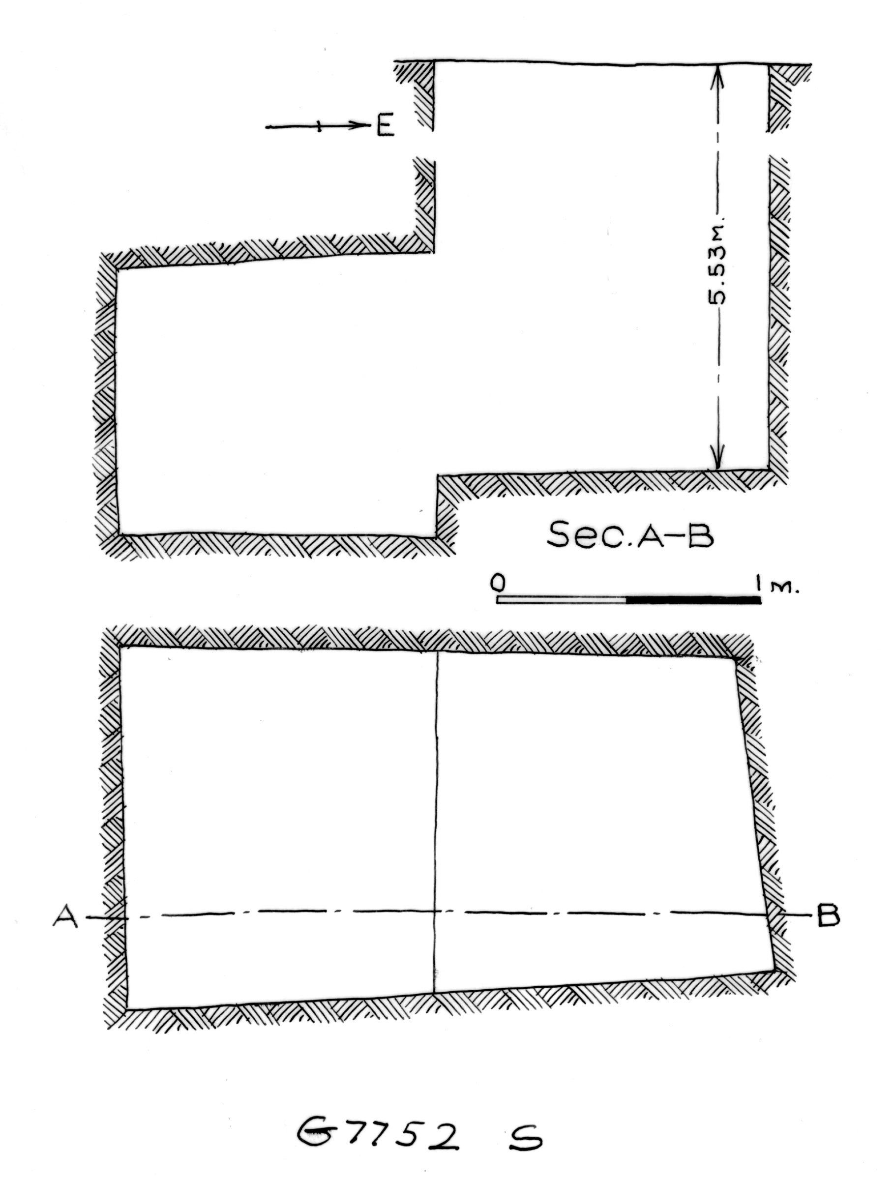 Maps and plans: G 7752, Shaft S