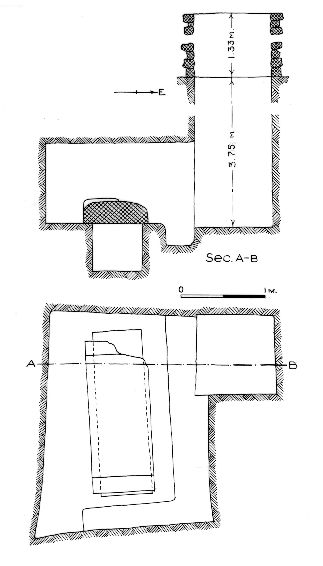 Maps and plans: G 7754, Shaft B