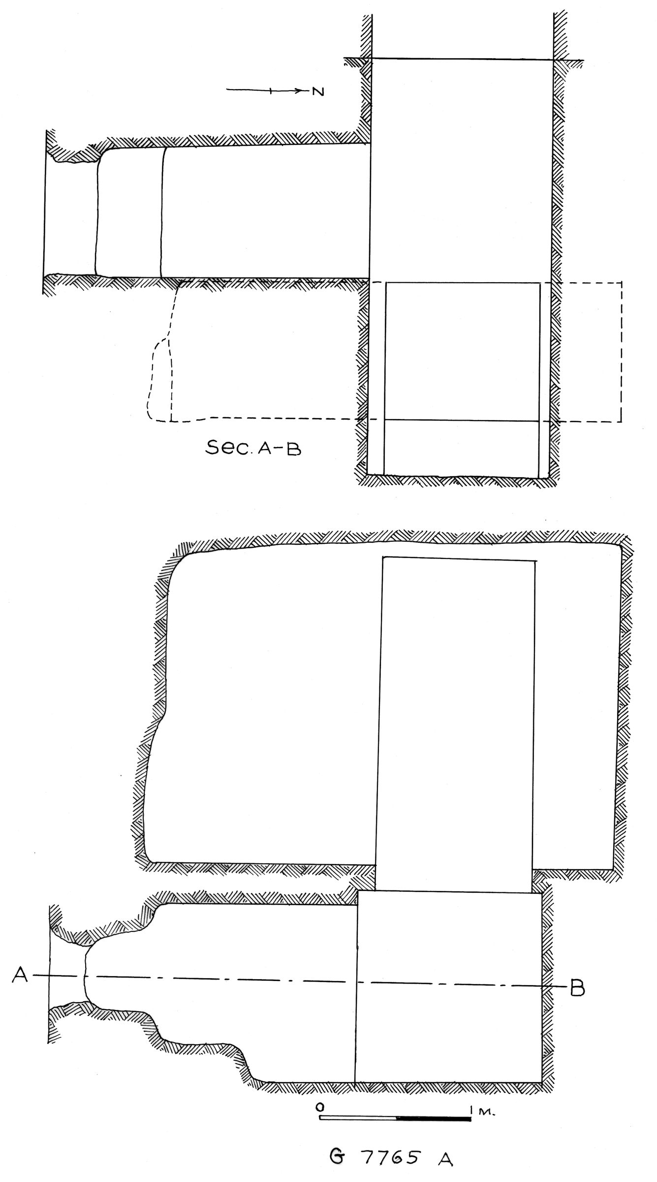 Maps and plans: G 7765, Shaft A
