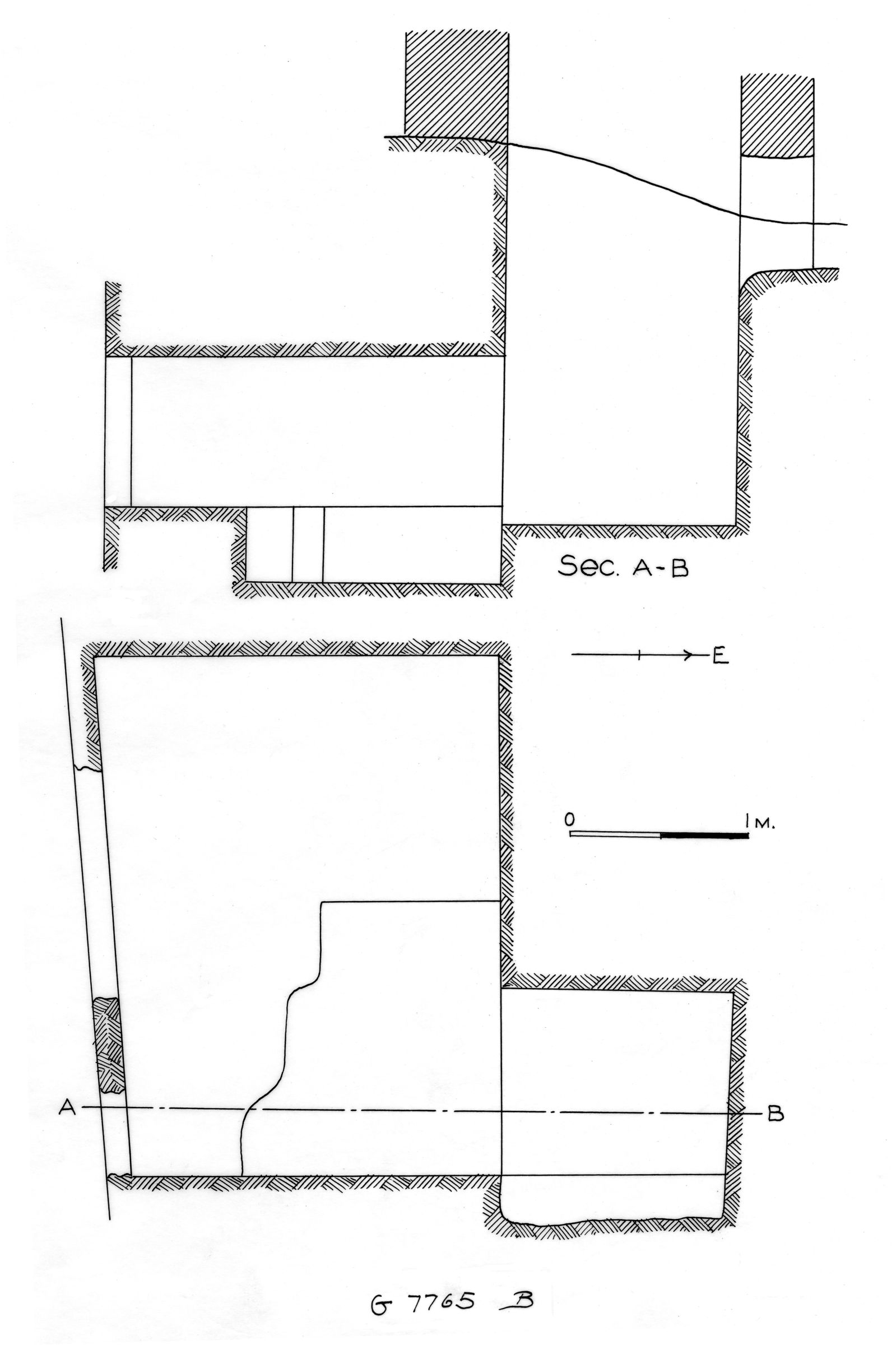 Maps and plans: G 7765, Shaft B