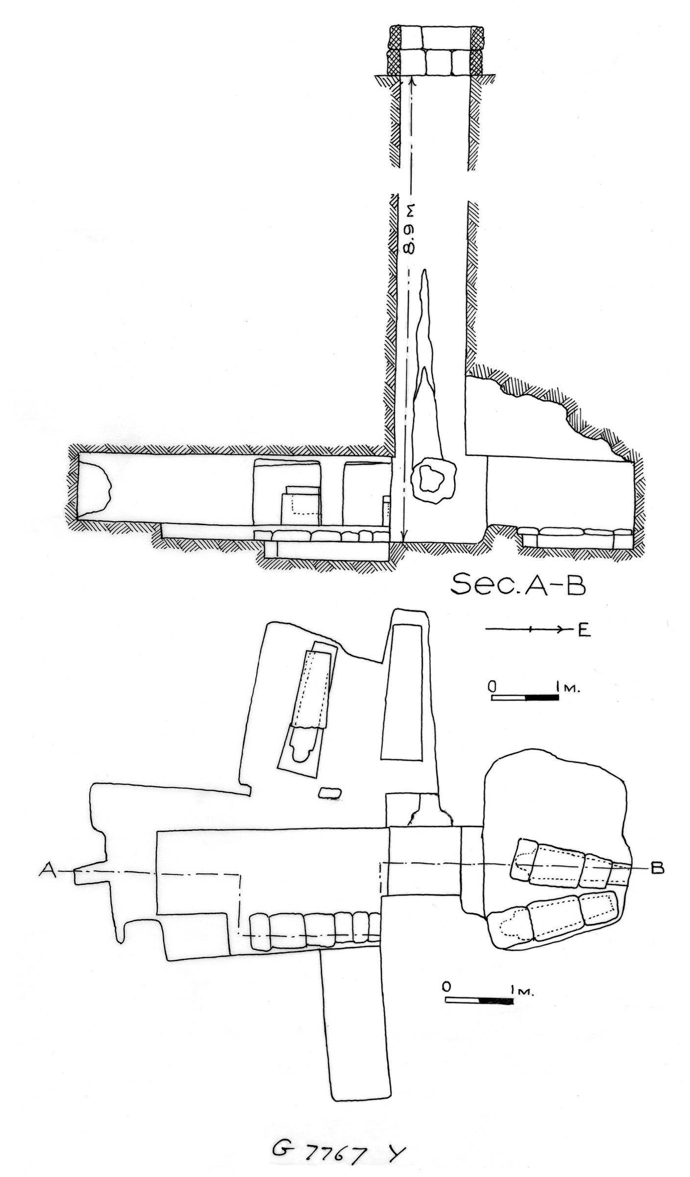 Maps and plans: G 7767, Shaft Y