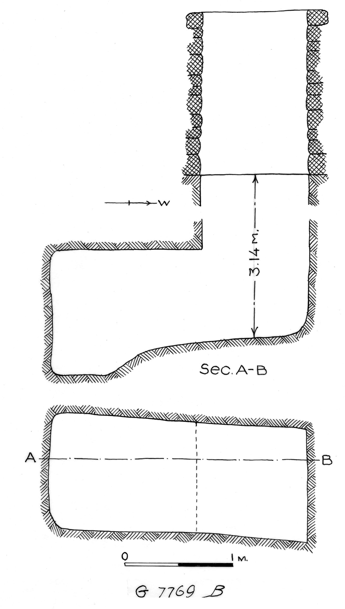 Maps and plans: G 7769, Shaft B