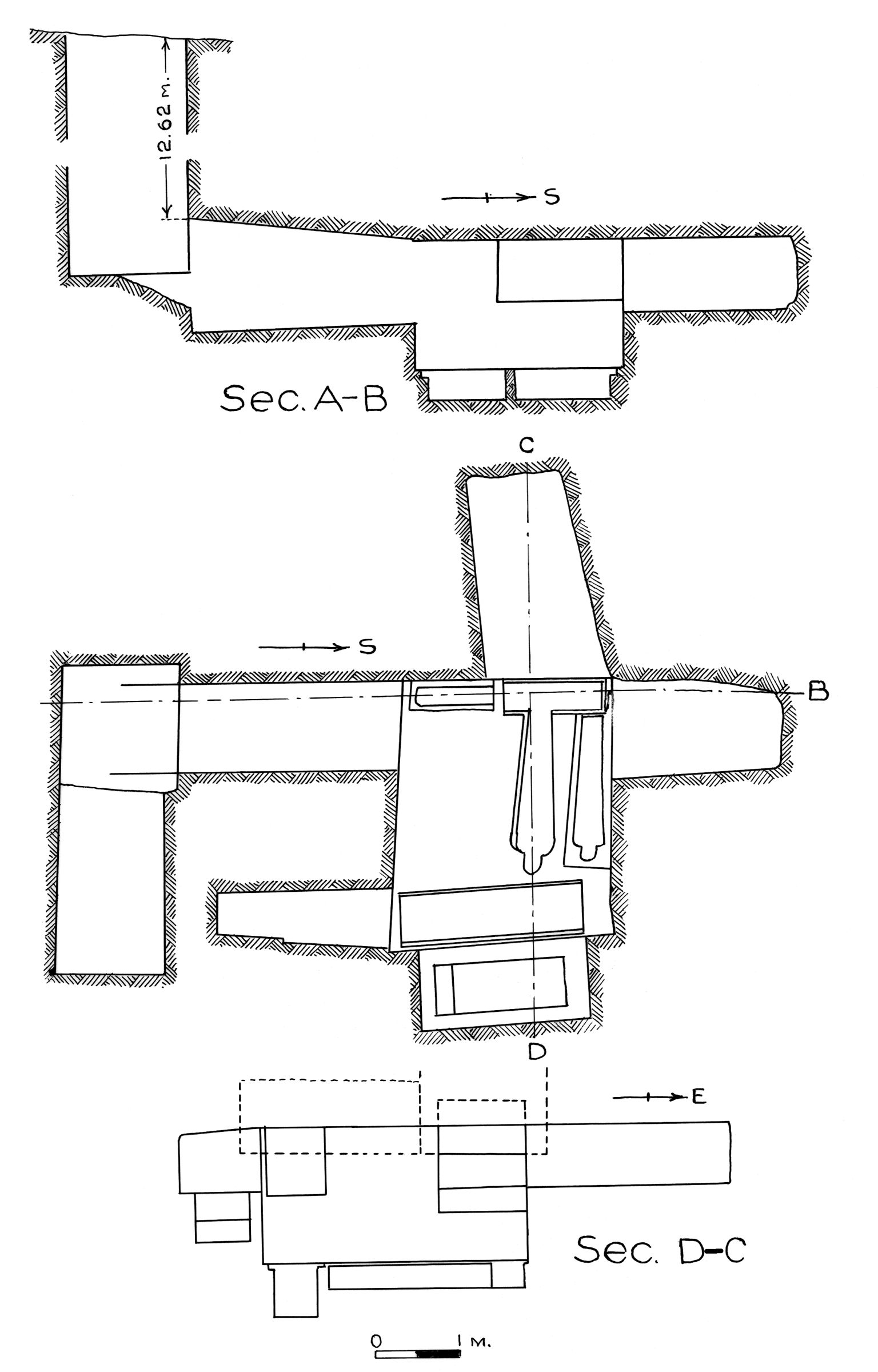 Maps and plans: G 7779, Shaft B