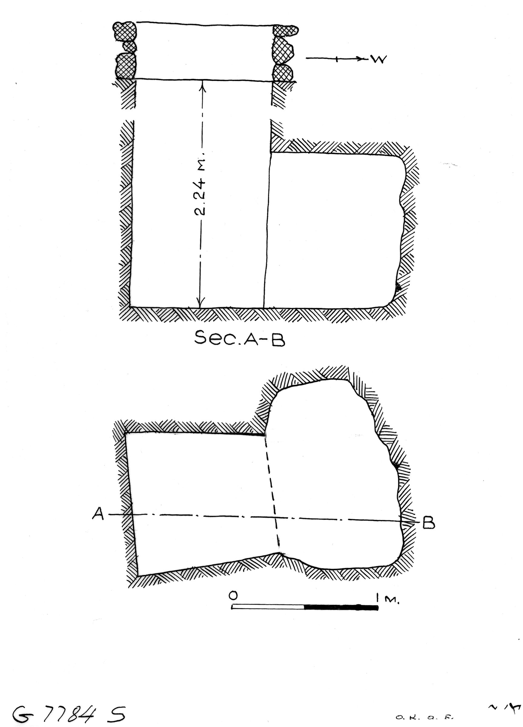 Maps and plans: G 7784, Shaft S
