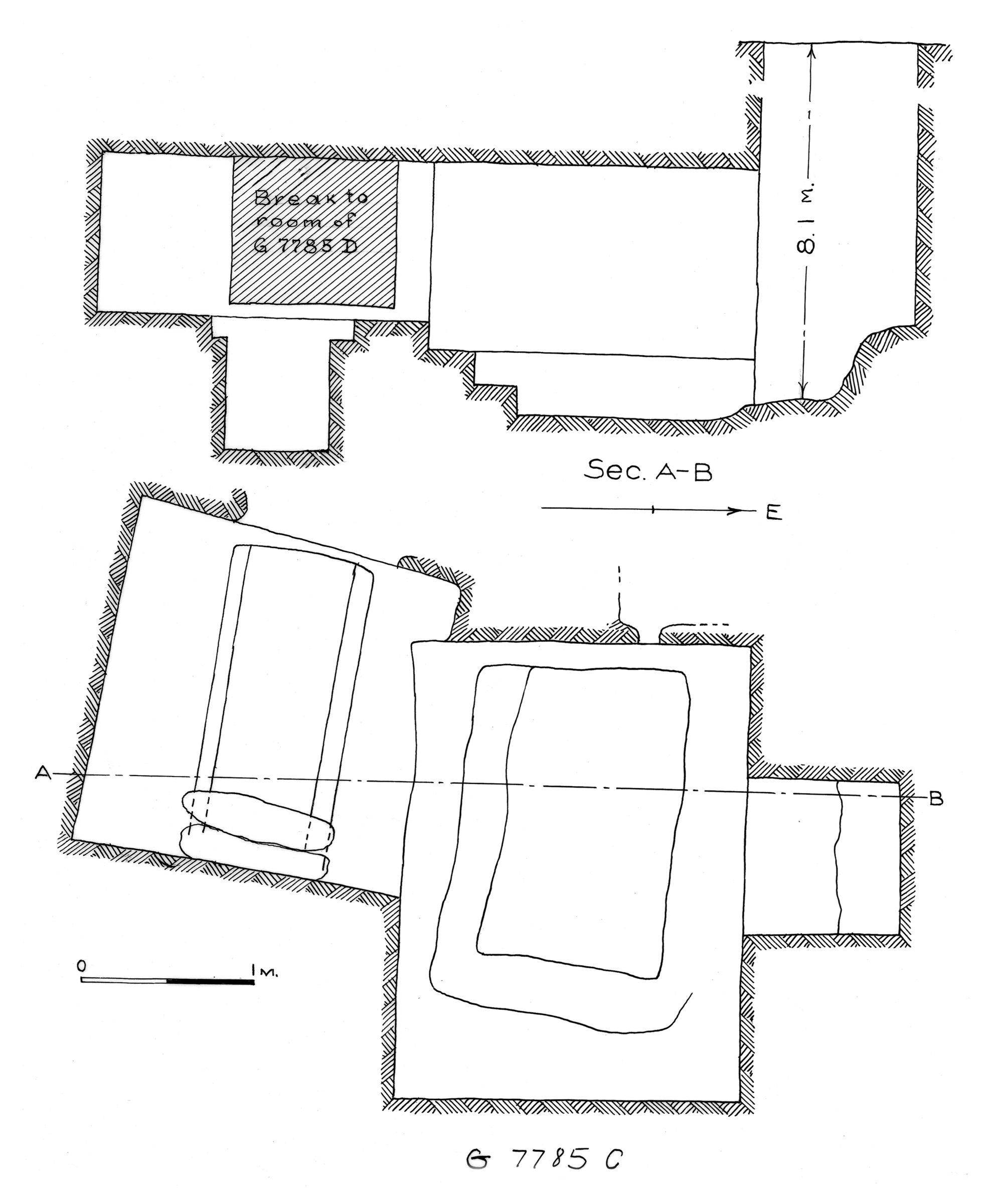 Maps and plans: G 7785, Shaft C
