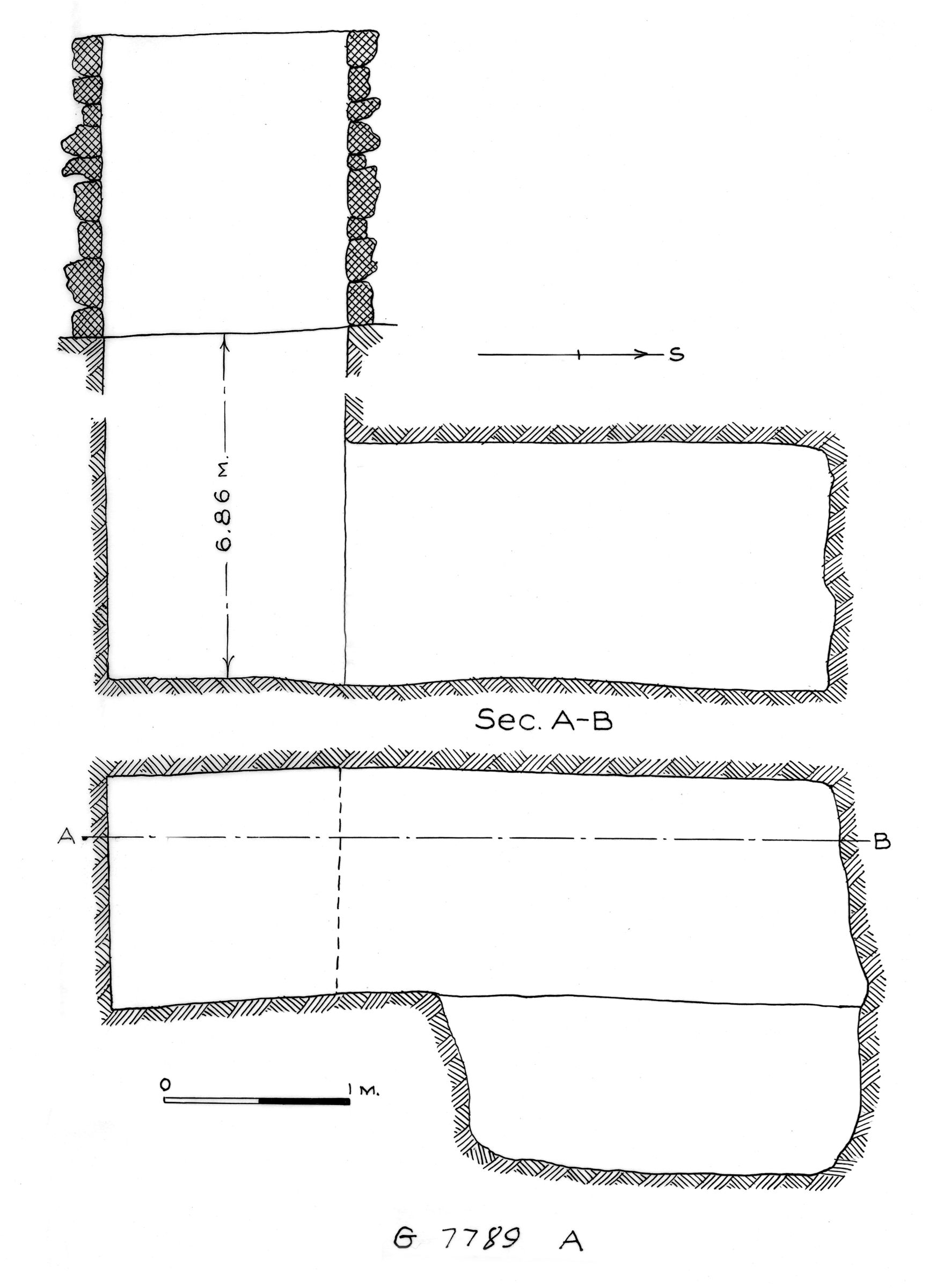 Maps and plans: G 7789, Shaft A