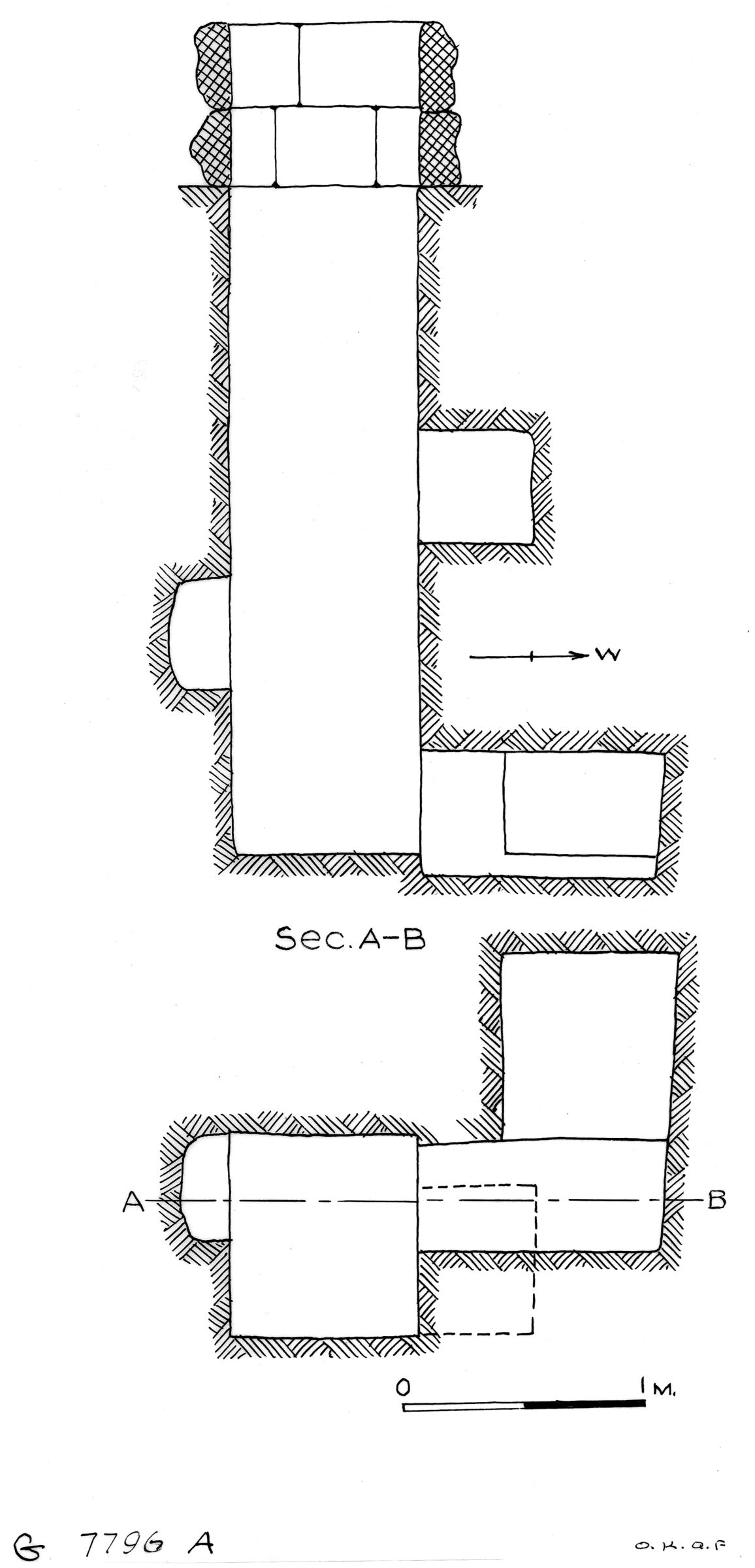 Maps and plans: G 7796, Shaft A
