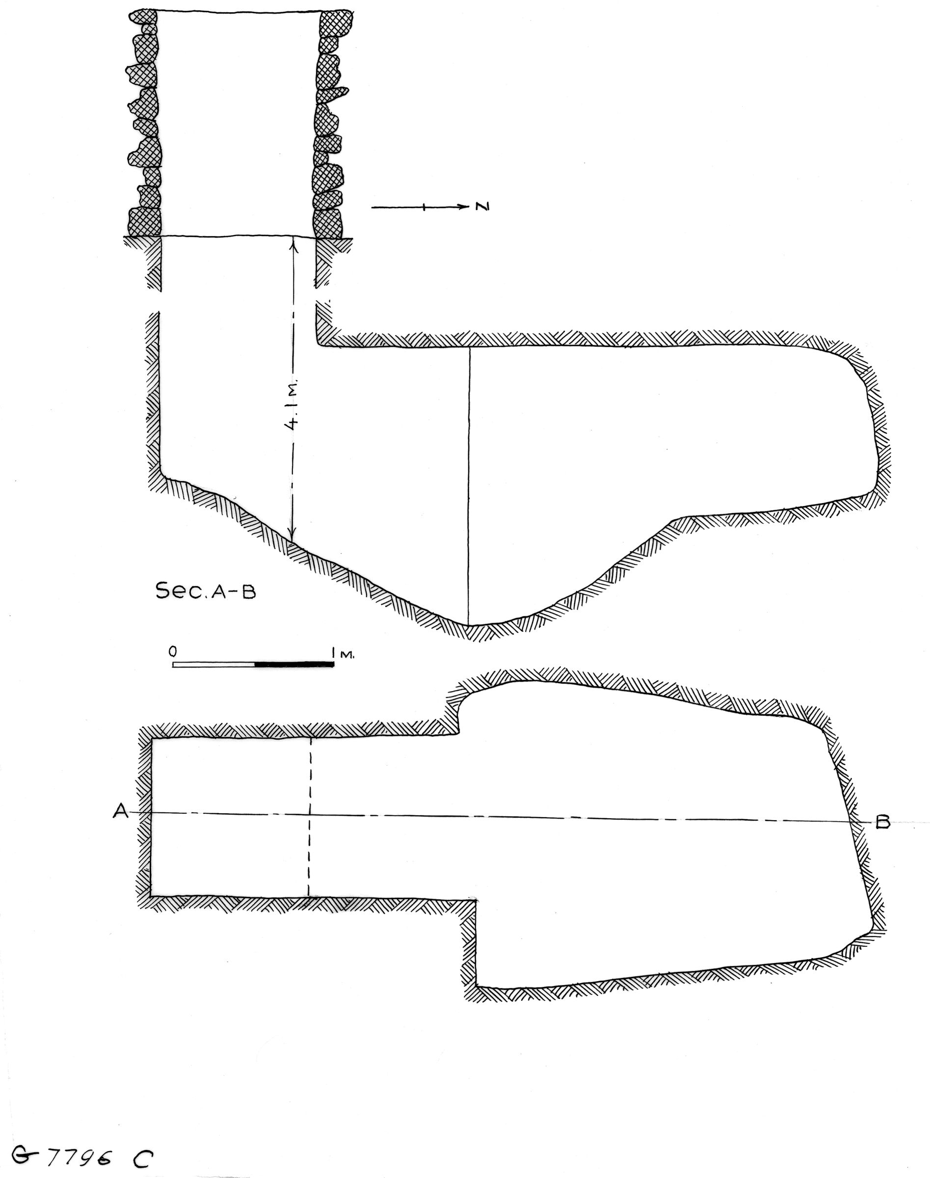 Maps and plans: G 7796, Shaft C