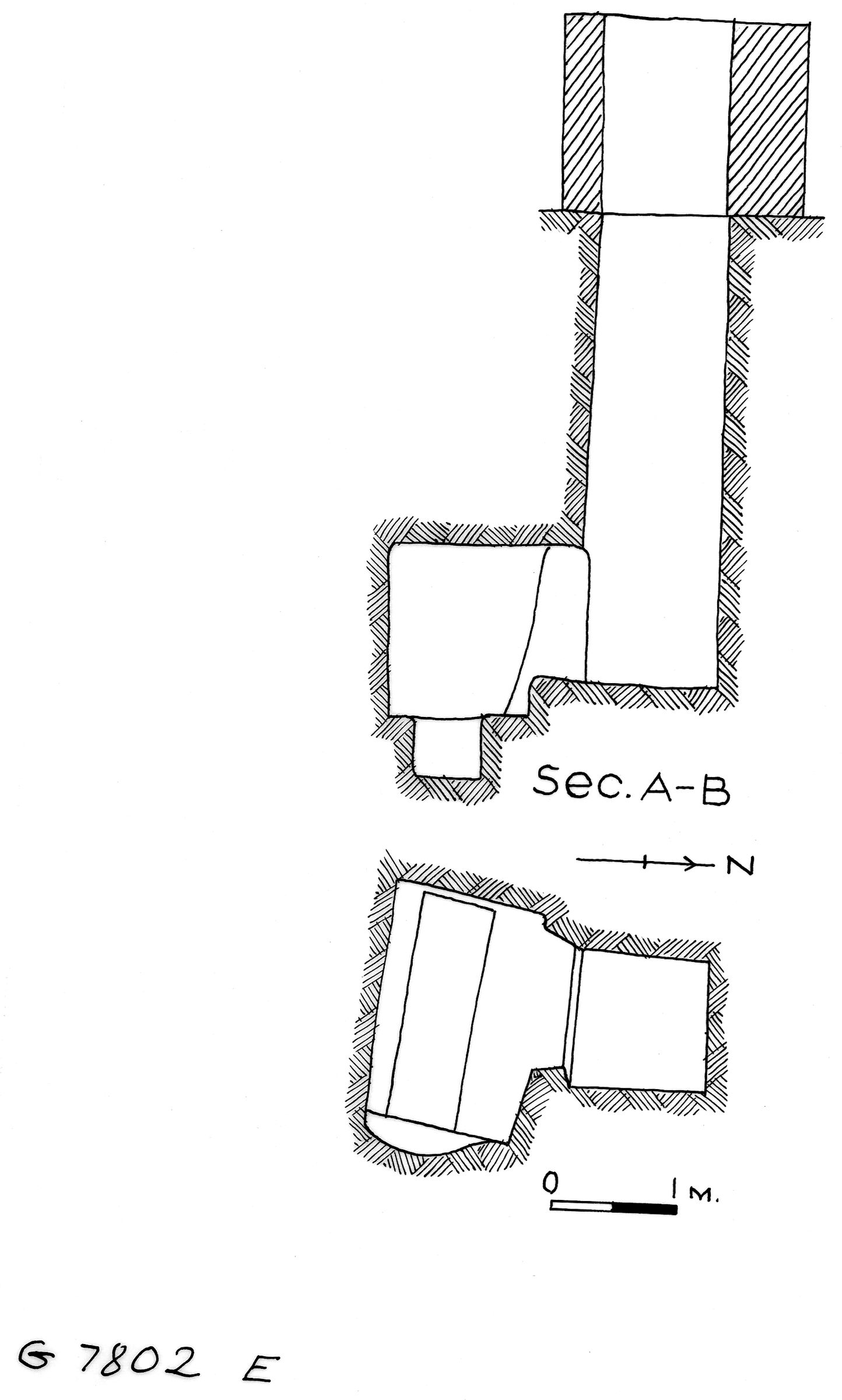 Maps and plans: G 7802, Shaft E
