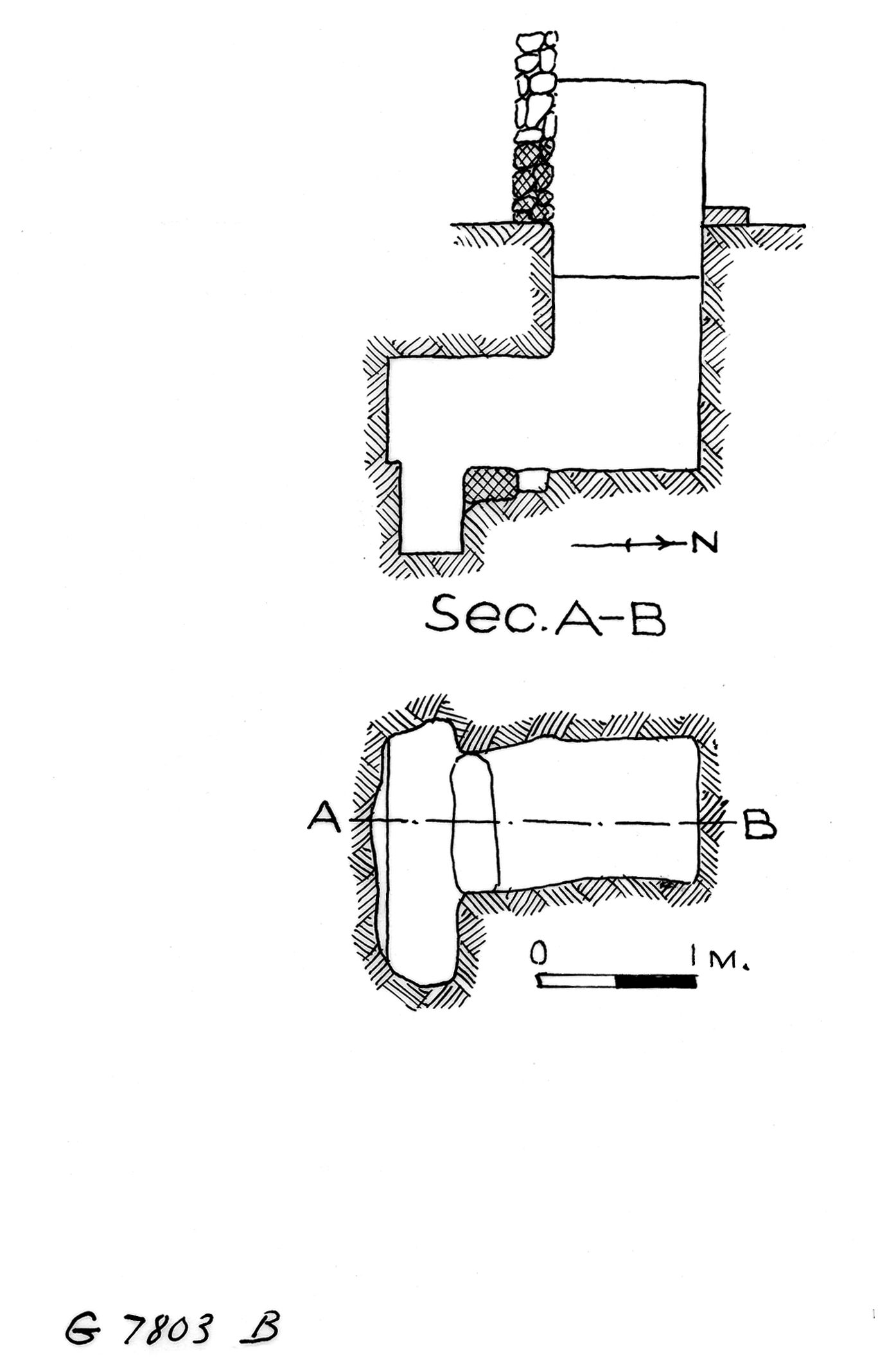 Maps and plans: G 7803, Shaft B