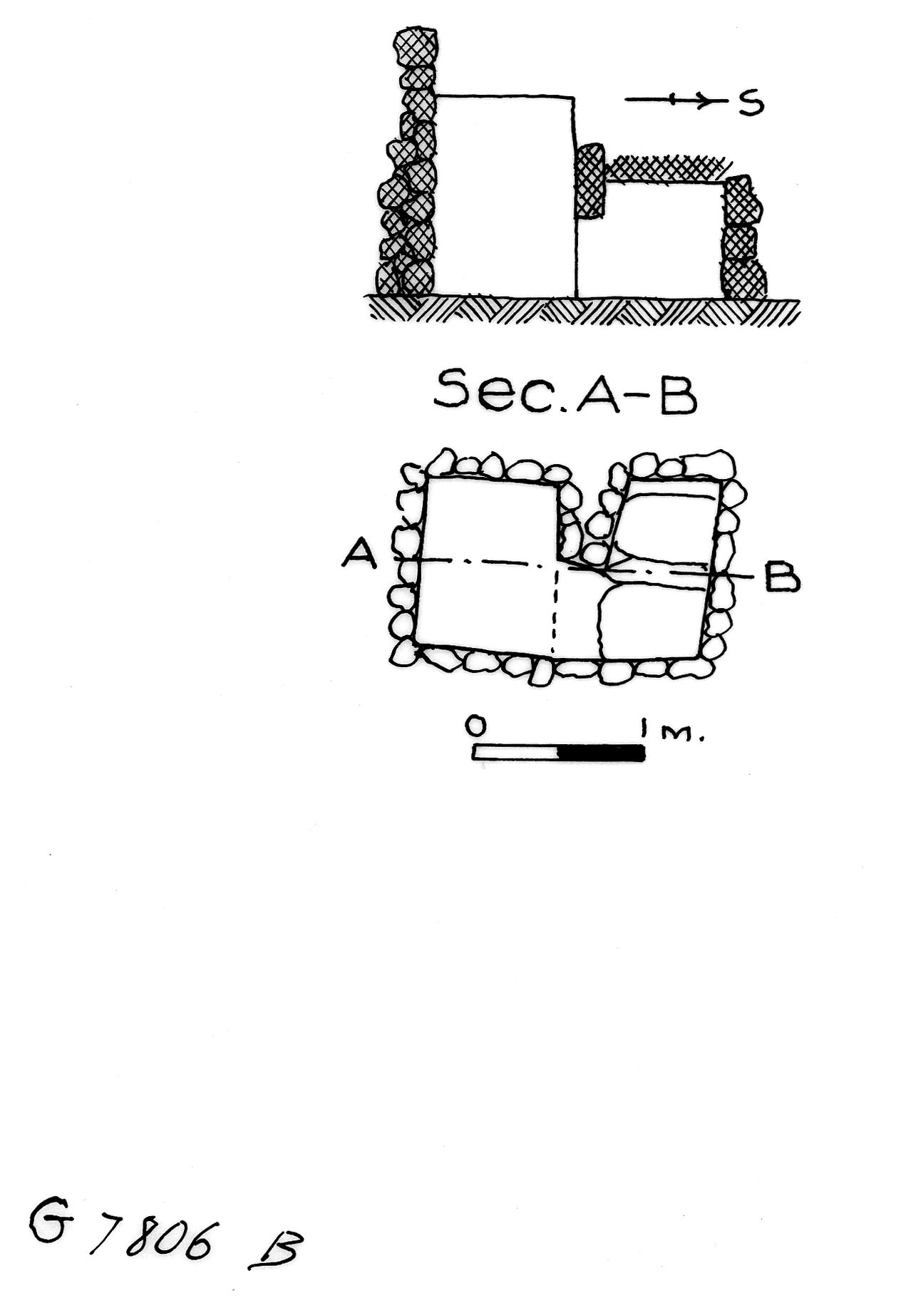 Maps and plans: G 7806, Shaft B
