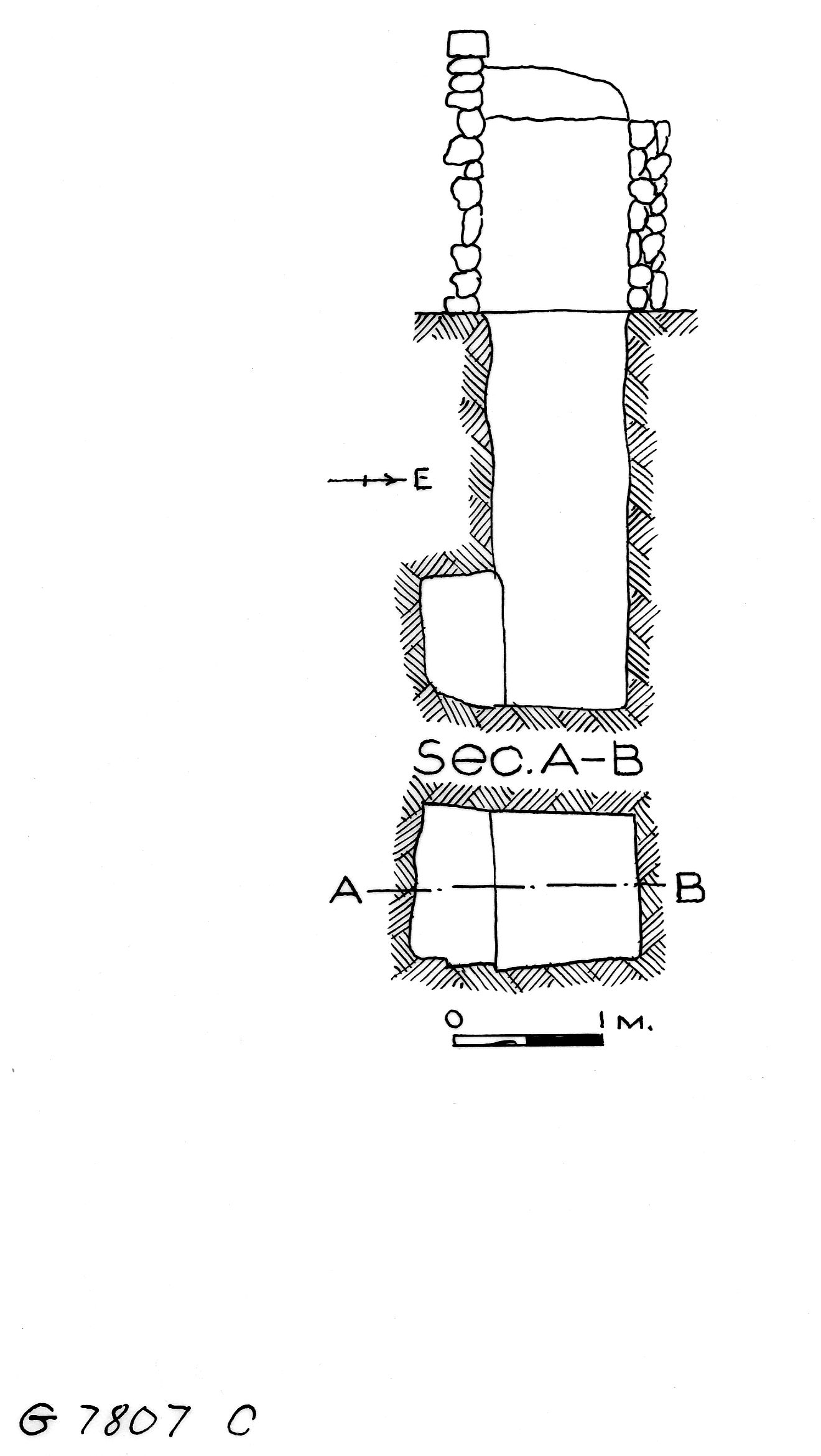 Maps and plans: G 7807, Shaft C