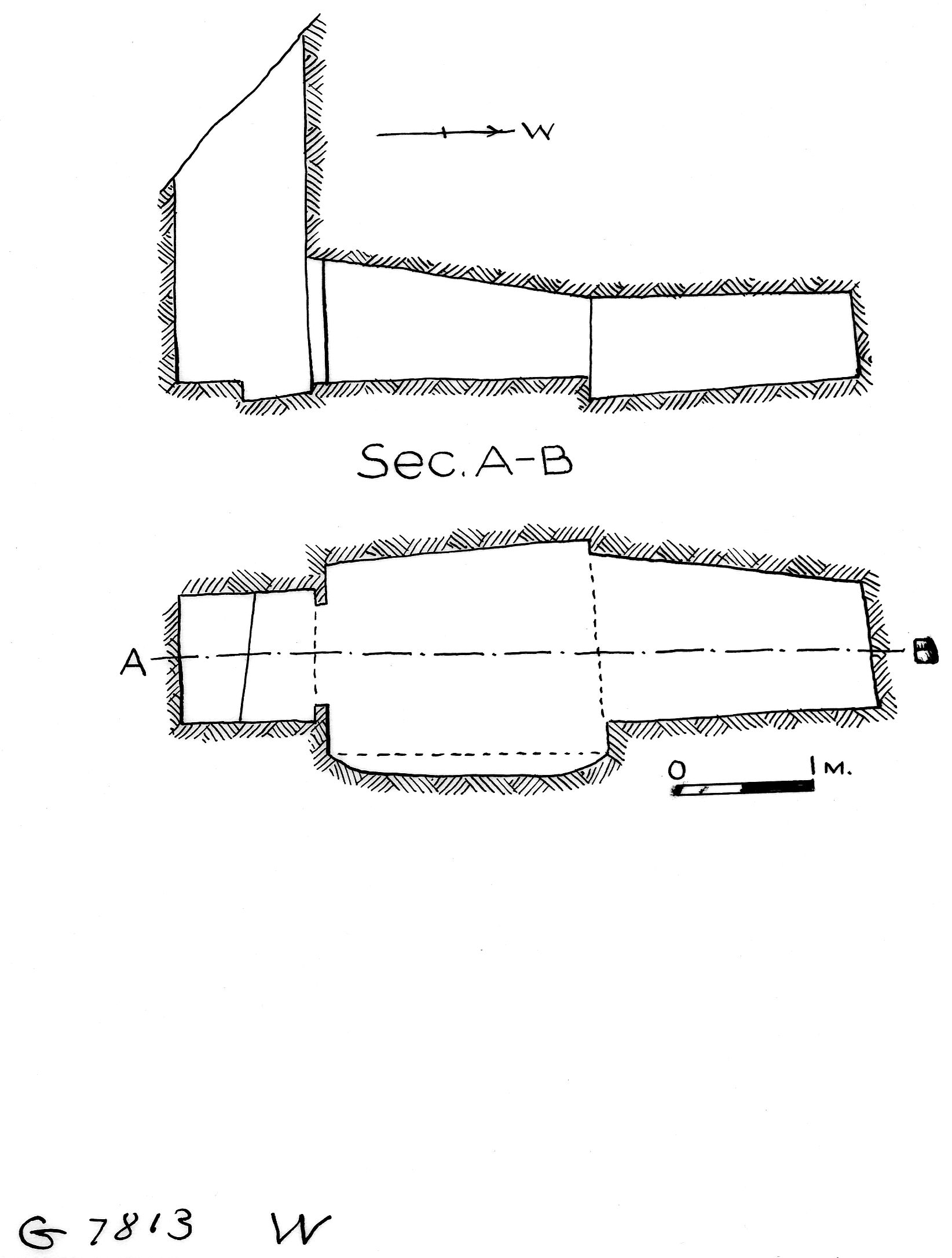 Maps and plans: G 7813, Shaft Wa