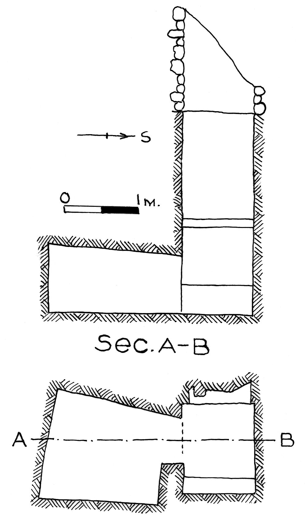 Maps and plans: G 7842, Shaft A