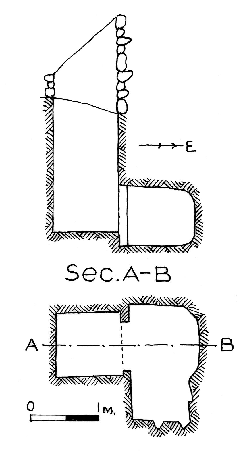 Maps and plans: G 7842, Shaft B