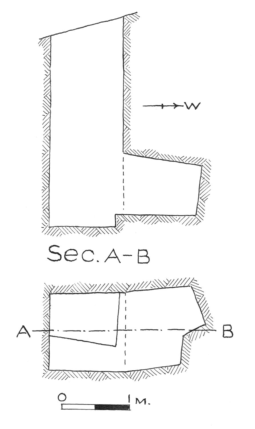 Maps and plans: G 7848, Shaft C
