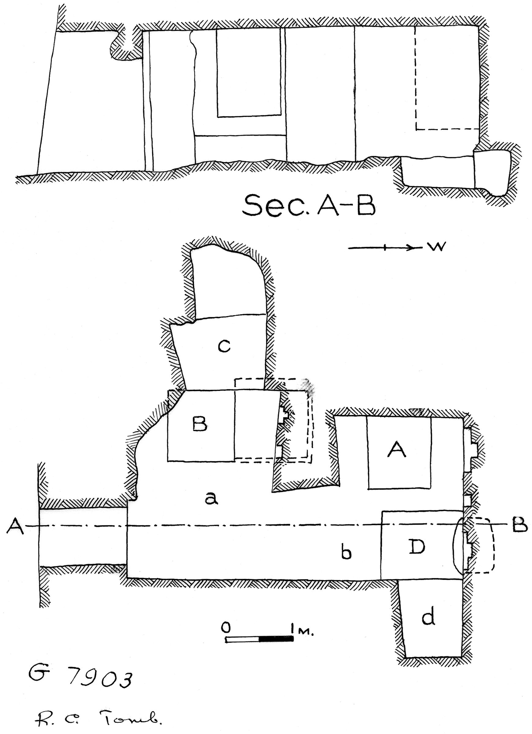 Maps and plans: G 7903, Plan and section