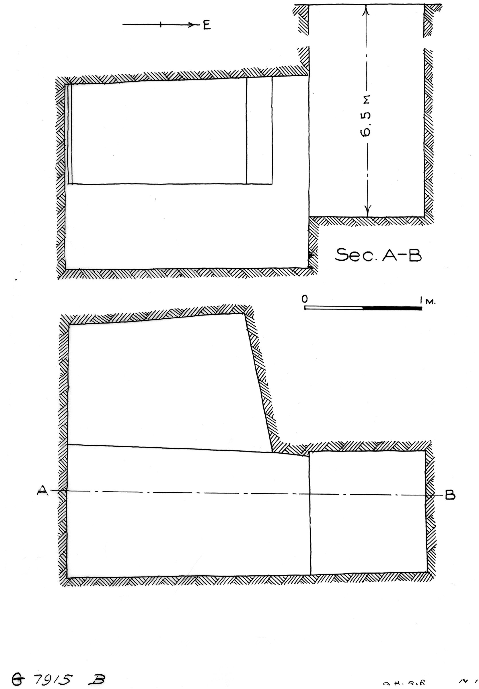 Maps and plans: G 7915, Shaft B
