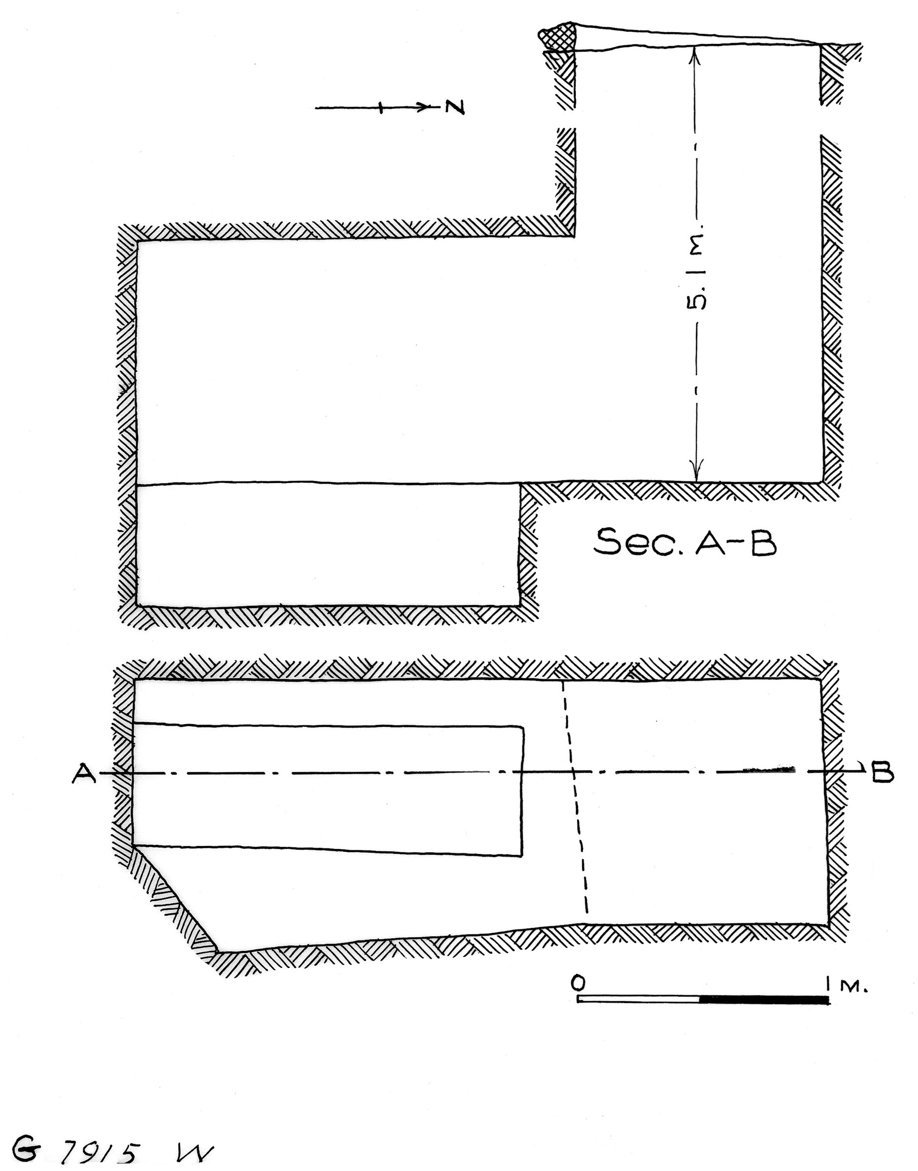 Maps and plans: G 7915, Shaft W