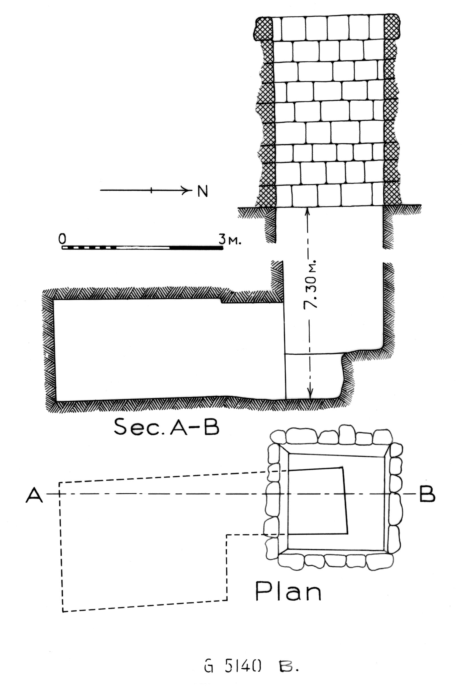 Maps and plans: G 5140, Shaft B