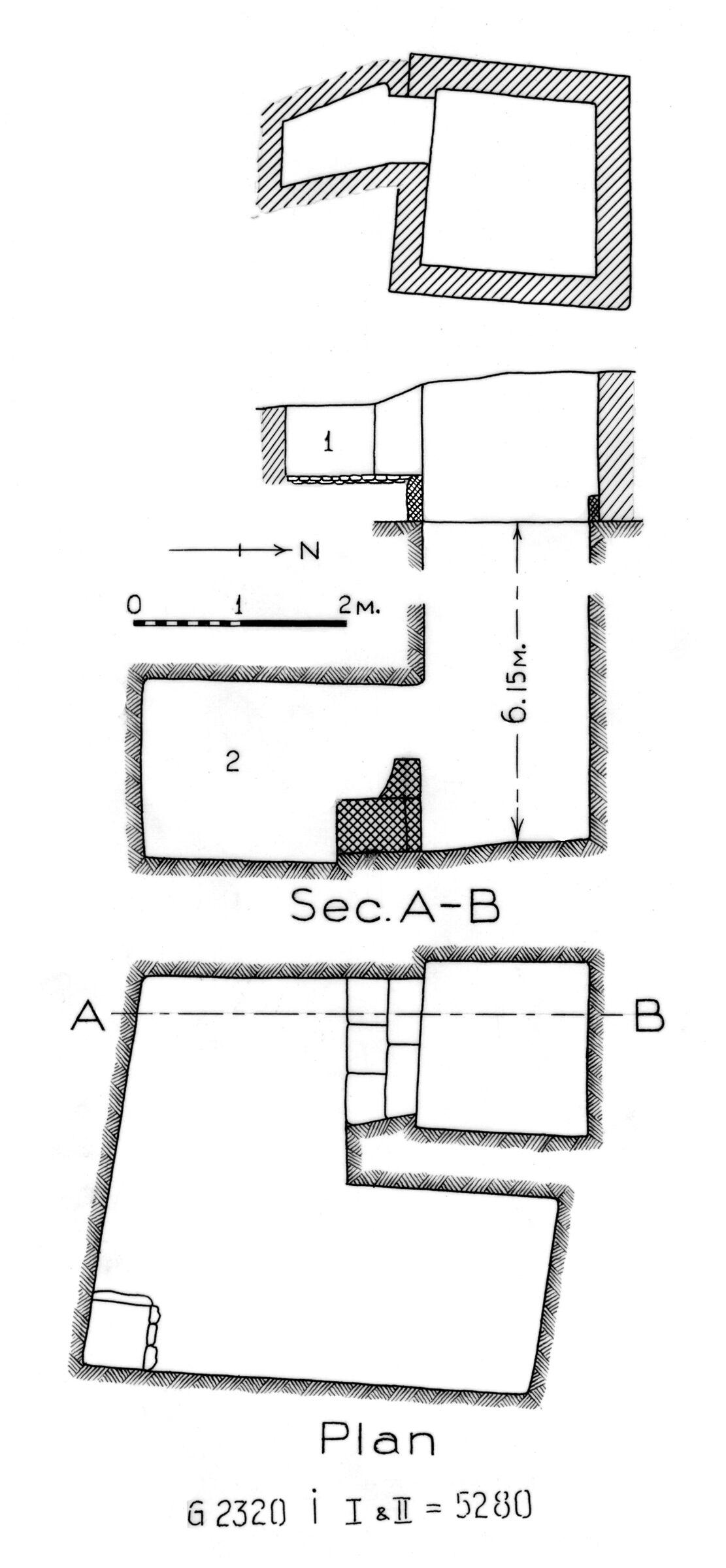 Maps and plans: G 2320 = G 5280, Shaft I (I & II)