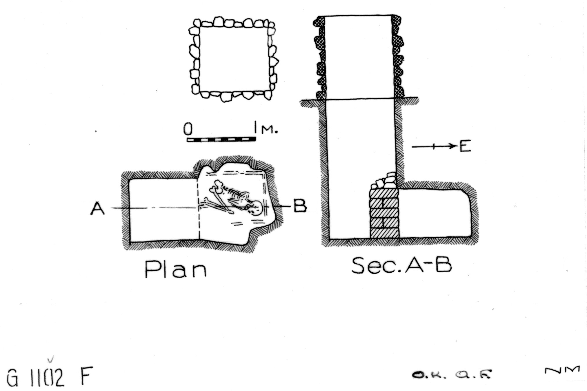 Maps and plans: G 1102, Shaft F