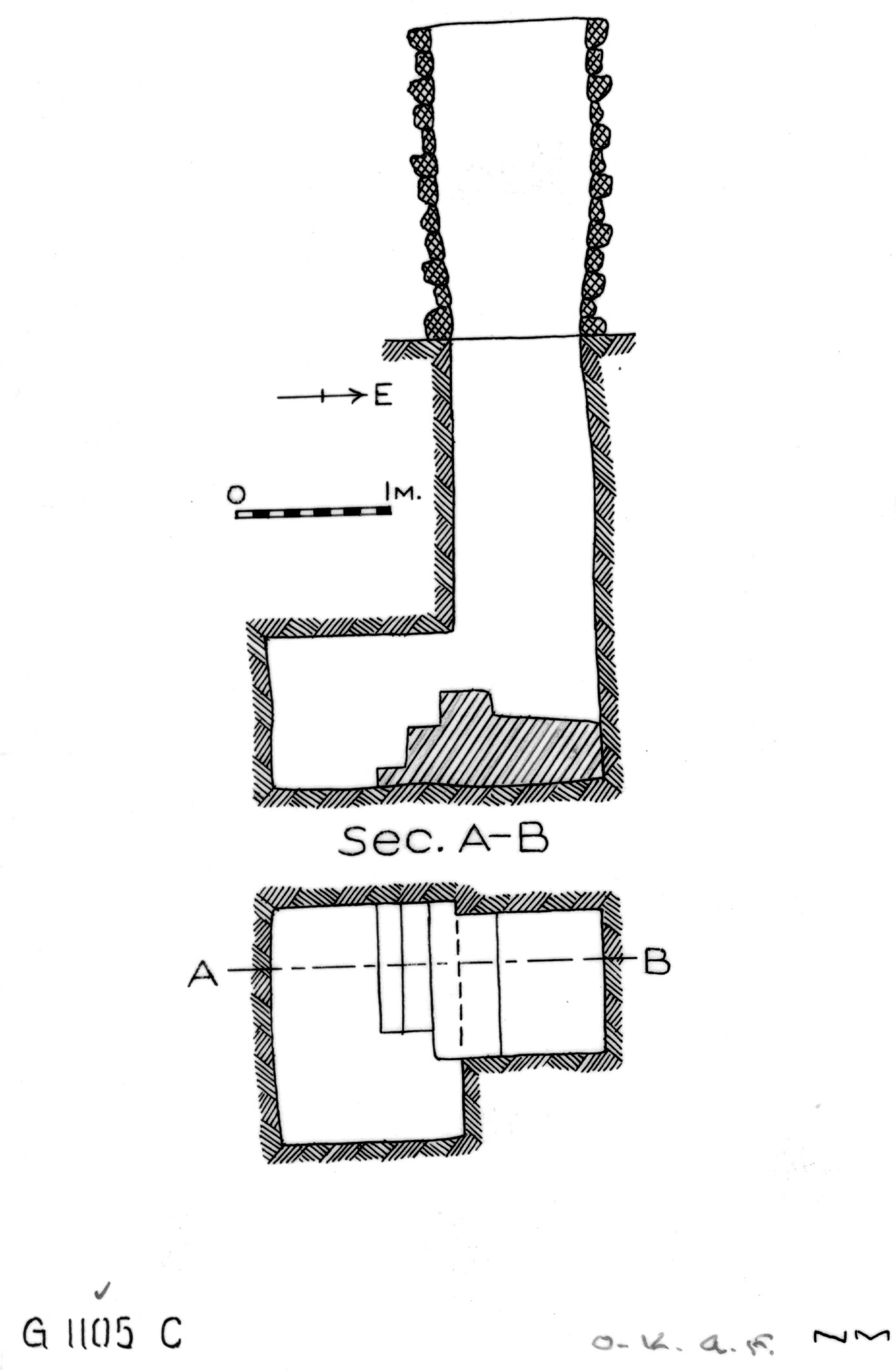 Maps and plans: G 1104+1105: G 1105, Shaft C