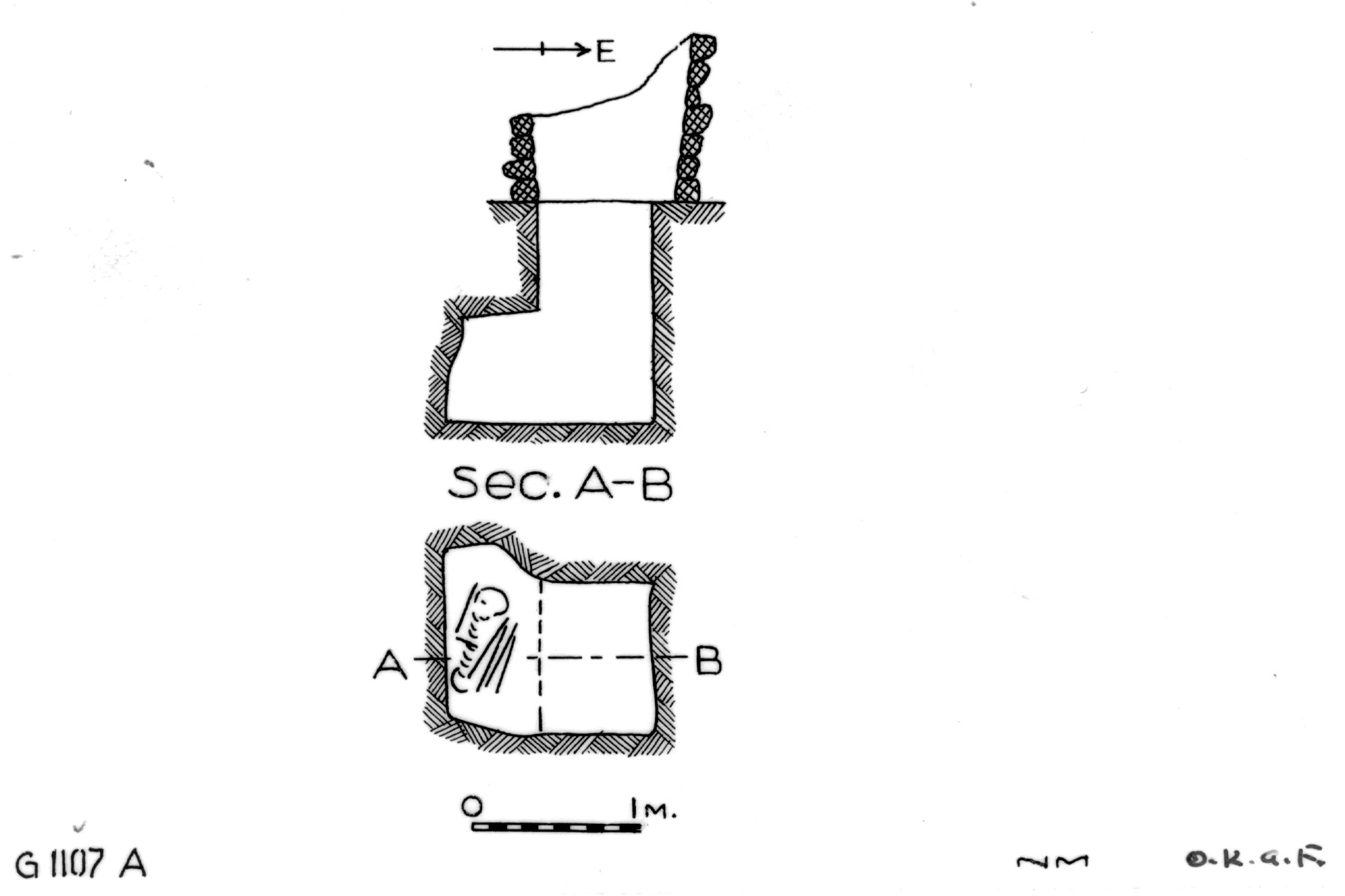 Maps and plans: G 1107, Shaft A
