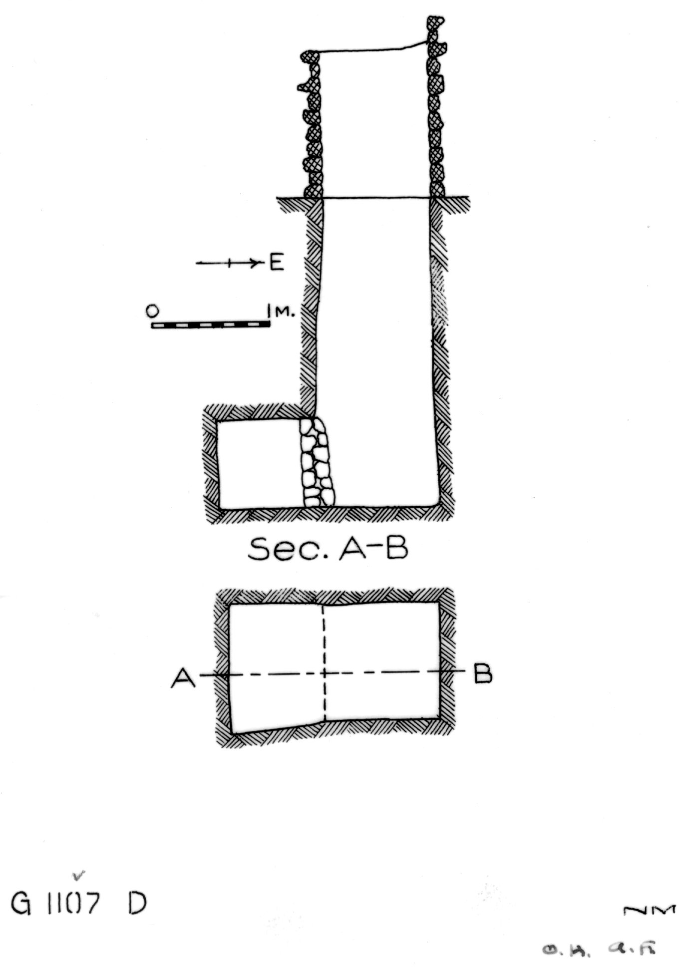 Maps and plans: G 1107, Shaft D