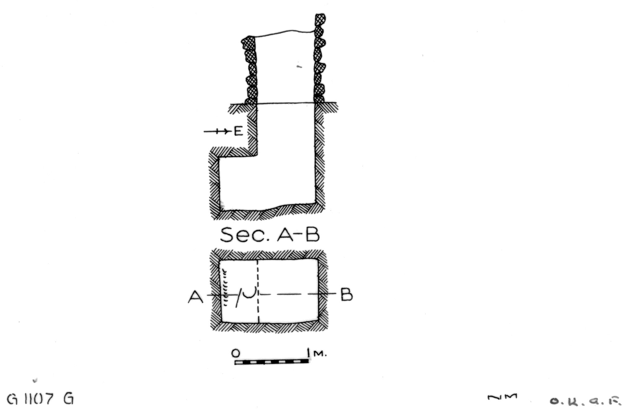 Maps and plans: G 1107, Shaft G