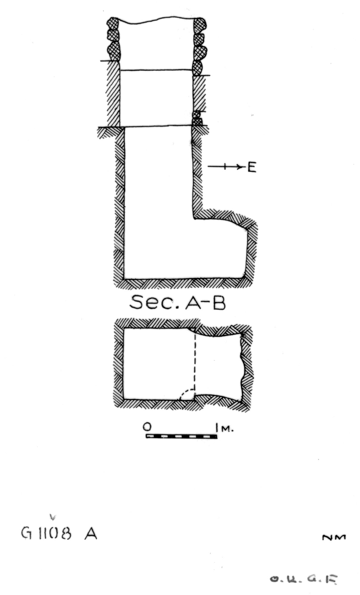 Maps and plans: G 1108, Shaft A