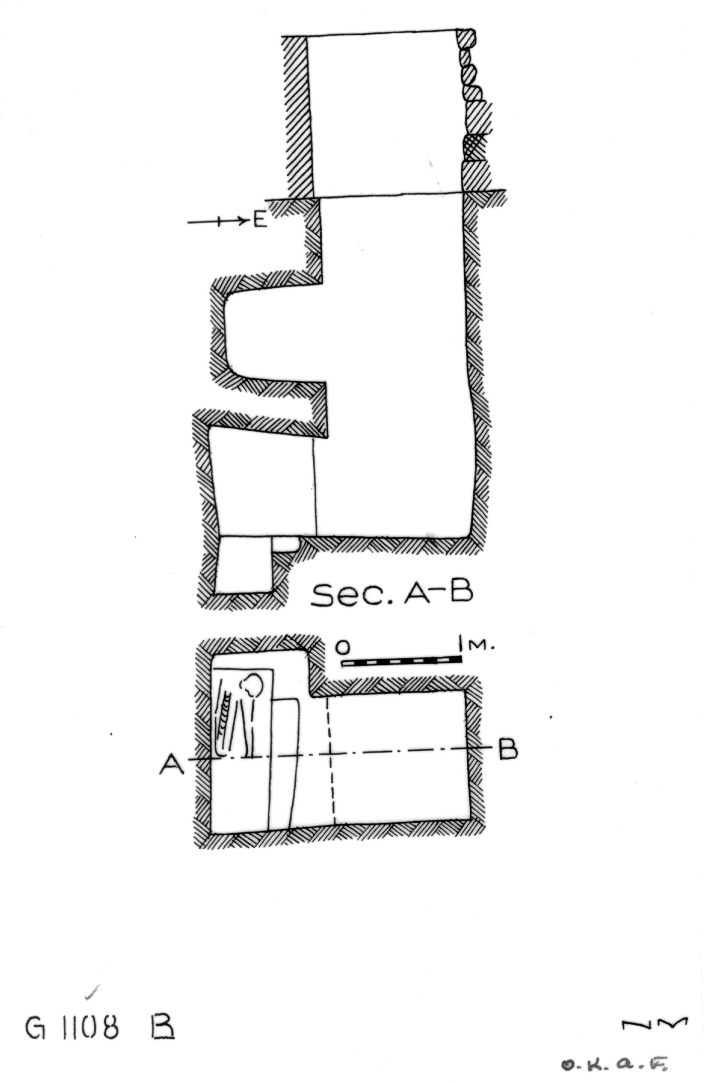 Maps and plans: G 1108, Shaft B