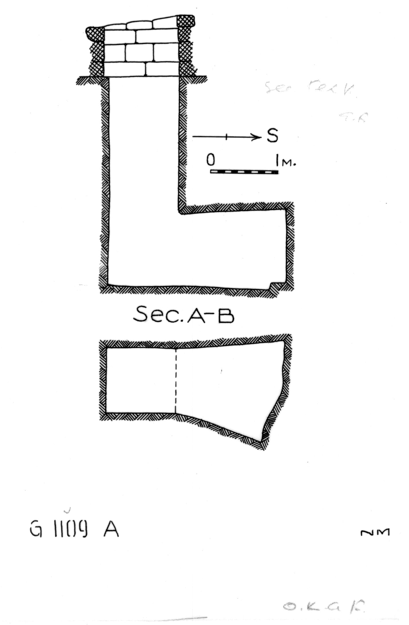 Maps and plans: G 1109, Shaft A