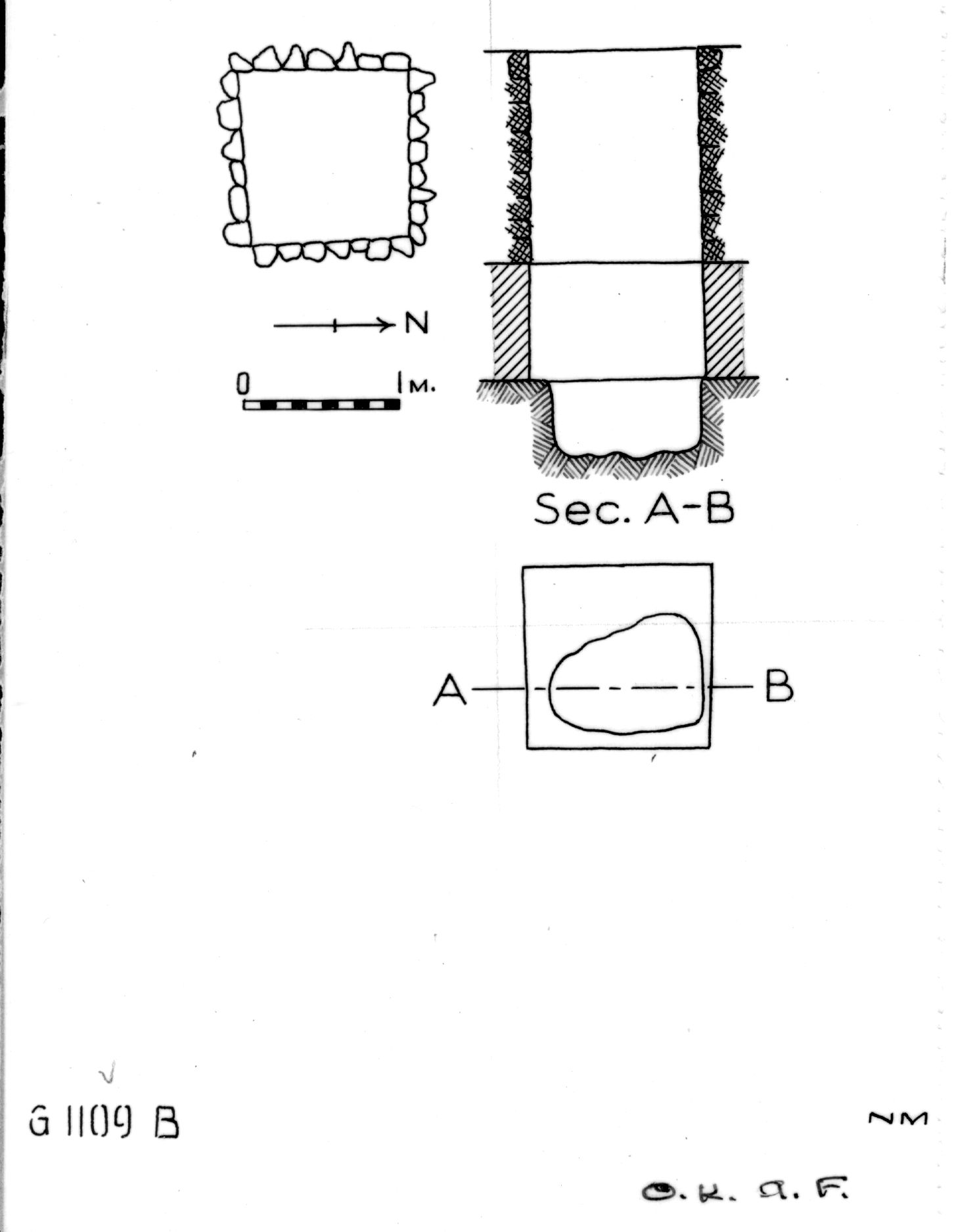 Maps and plans: G 1109, Shaft B