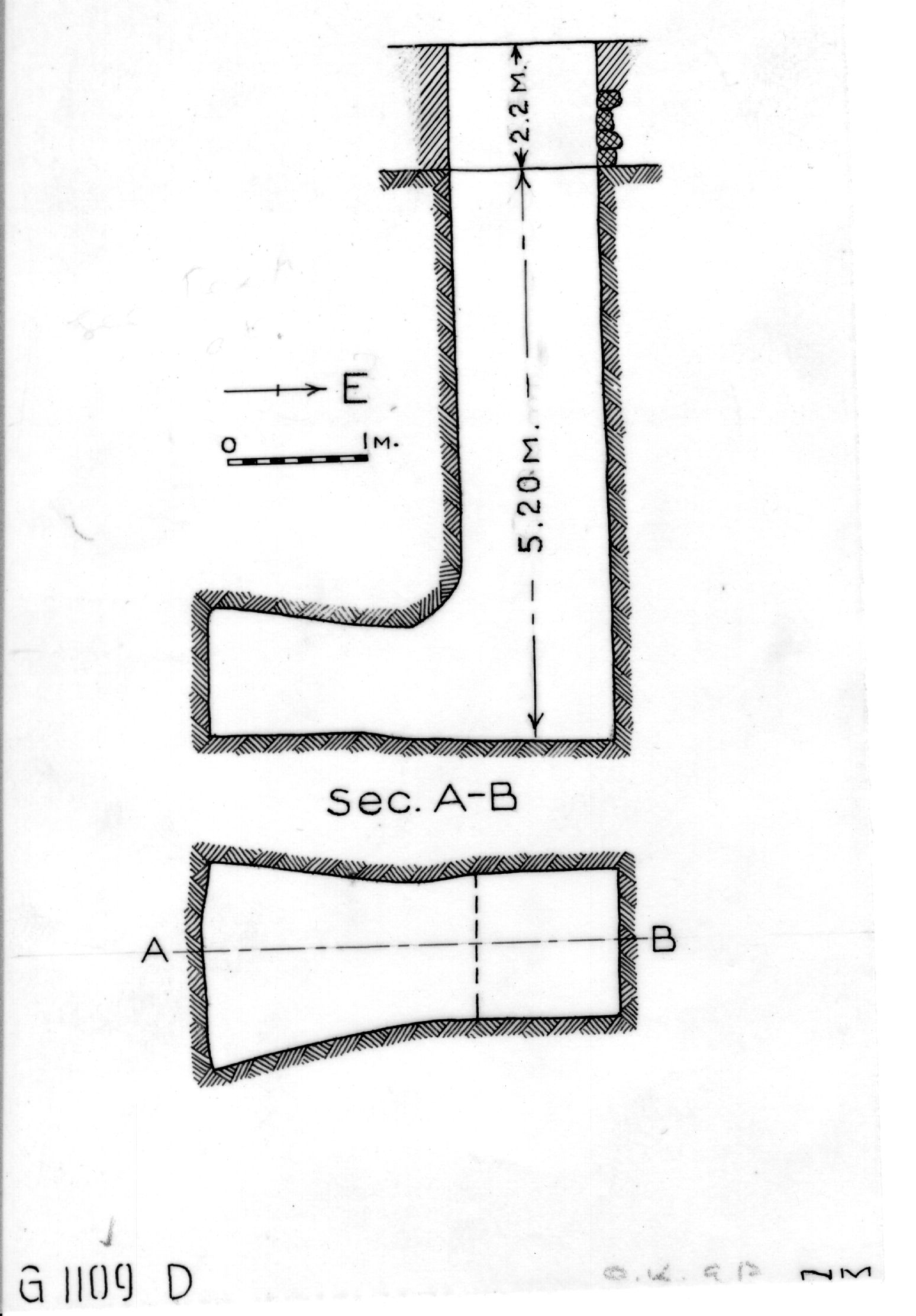 Maps and plans: G 1109, Shaft D