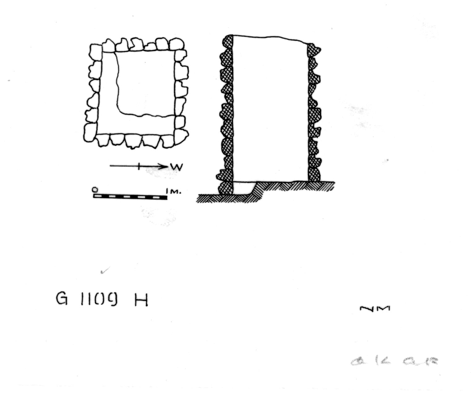 Maps and plans: G 1109, Shaft H