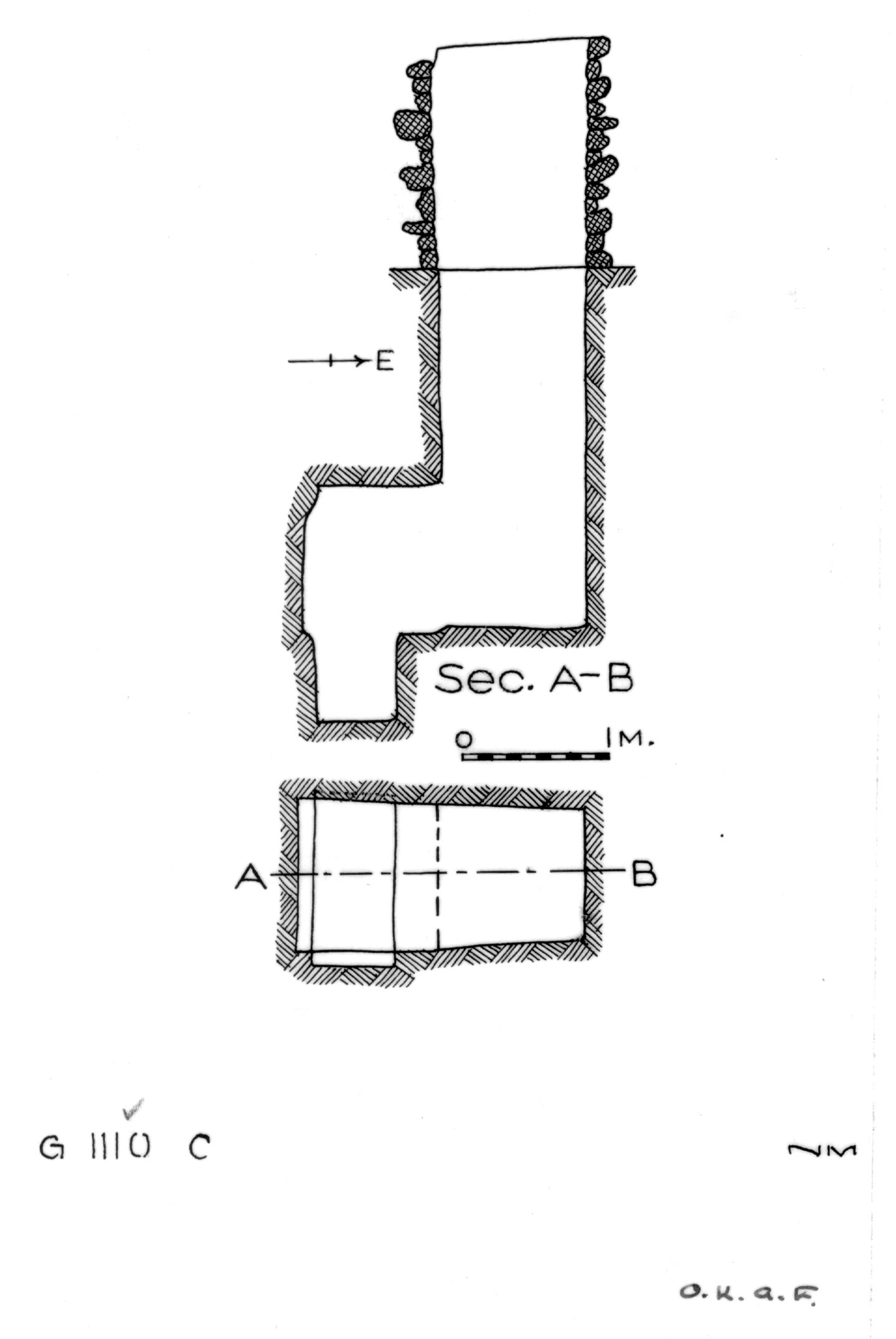 Maps and plans: G 1110, Shaft C