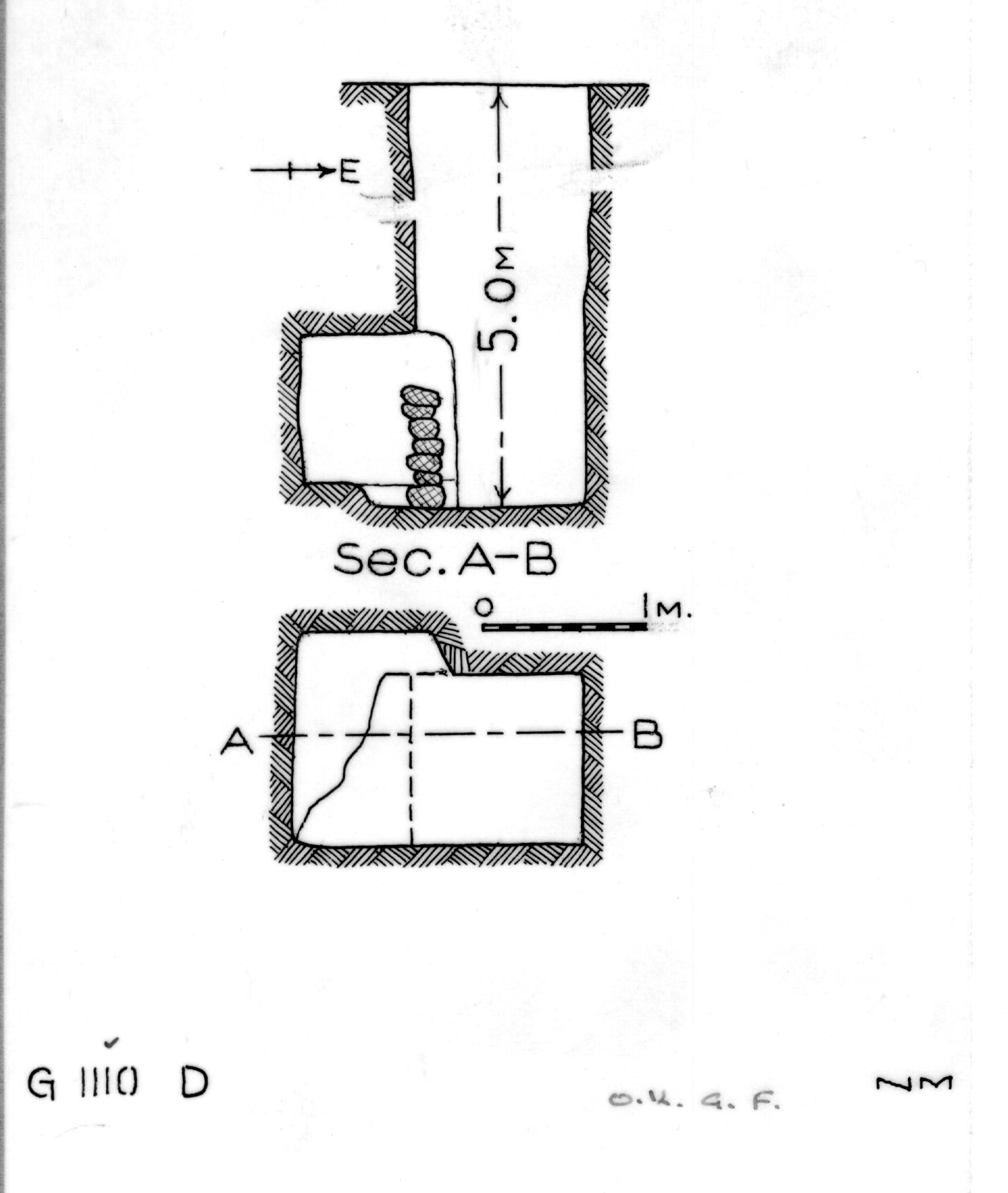 Maps and plans: G 1110, Shaft D