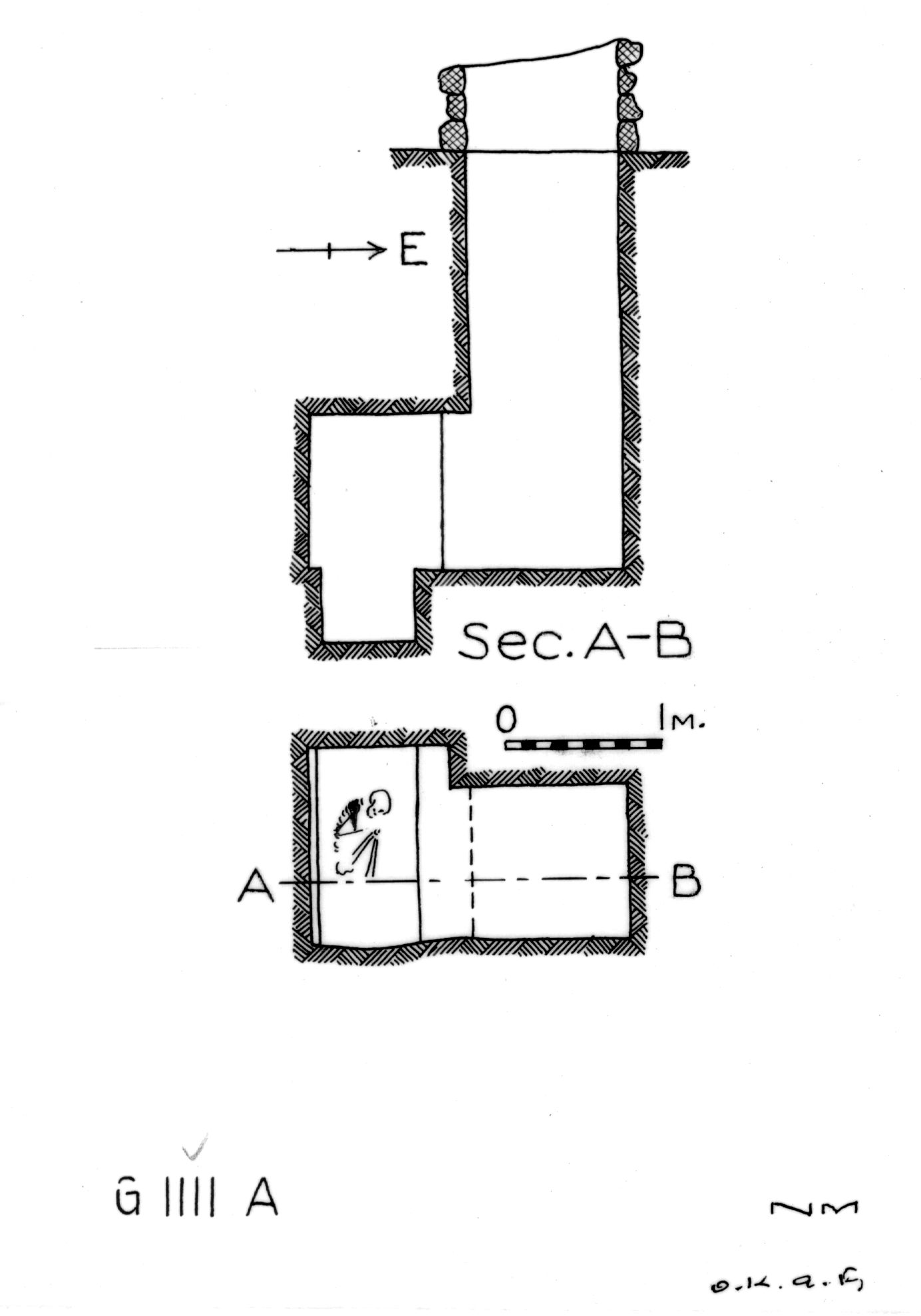 Maps and plans: G 1111, Shaft A
