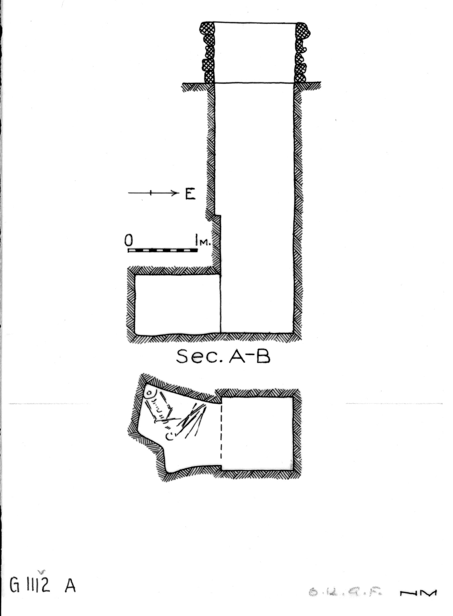 Maps and plans: G 1112+1113: G 1112, Shaft A