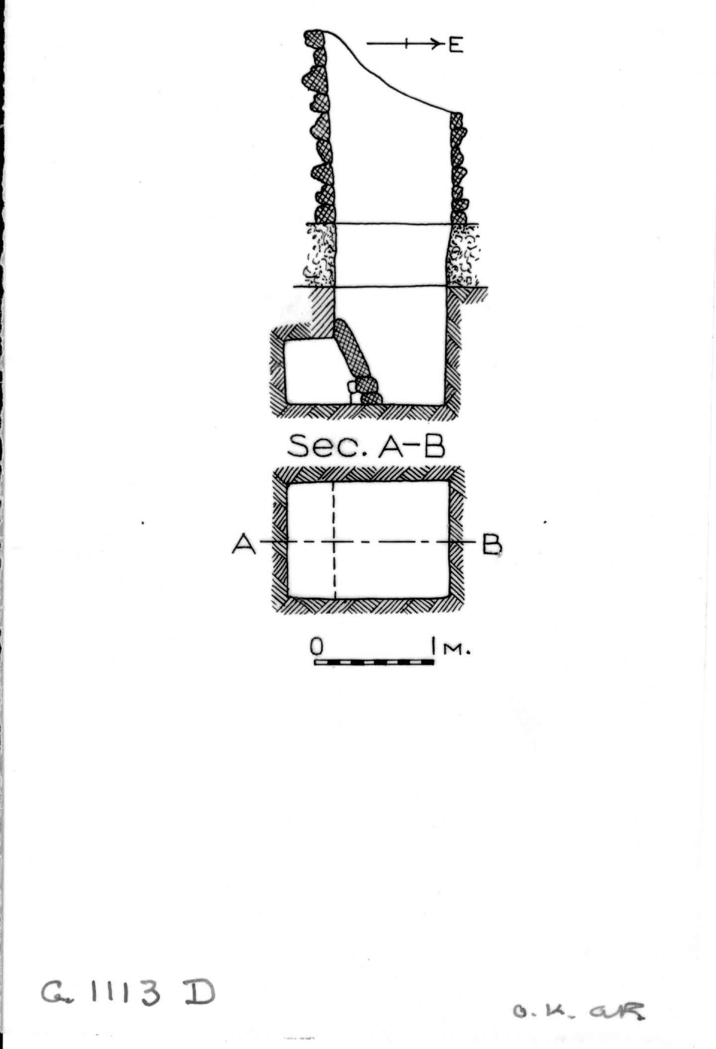 Maps and plans: G 1112+1113: G 1113, Shaft D