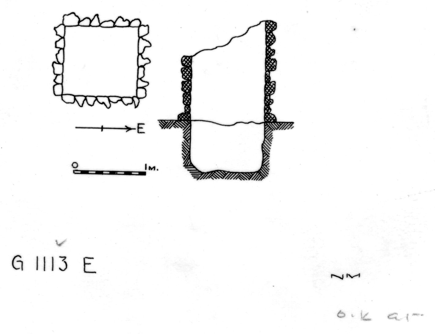 Maps and plans: G 1112+1113: G 1113, Shaft E