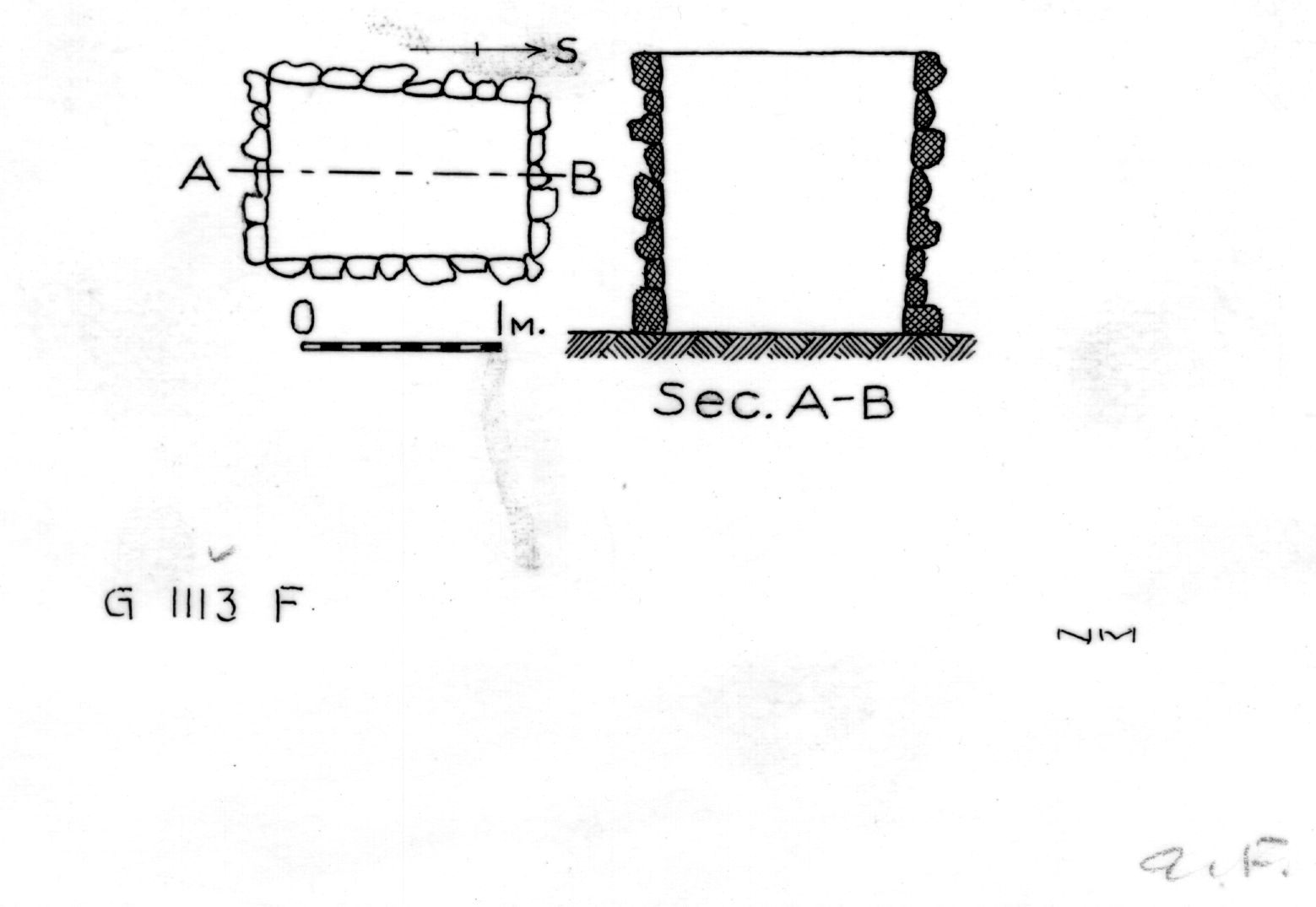 Maps and plans: G 1112+1113: G 1113, Shaft F